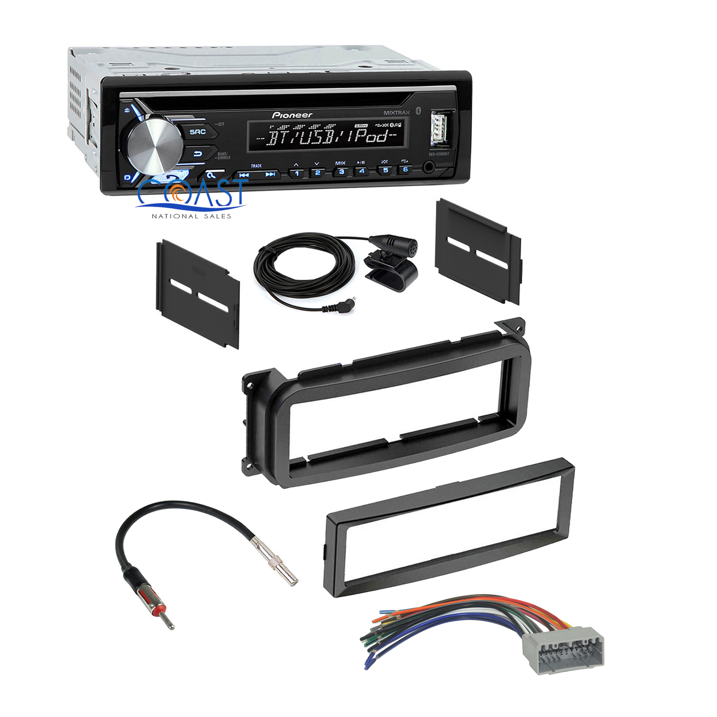 details about pioneer car stereo bluetooth usb dash kit harness for 02-up  chrysler dodge jeep