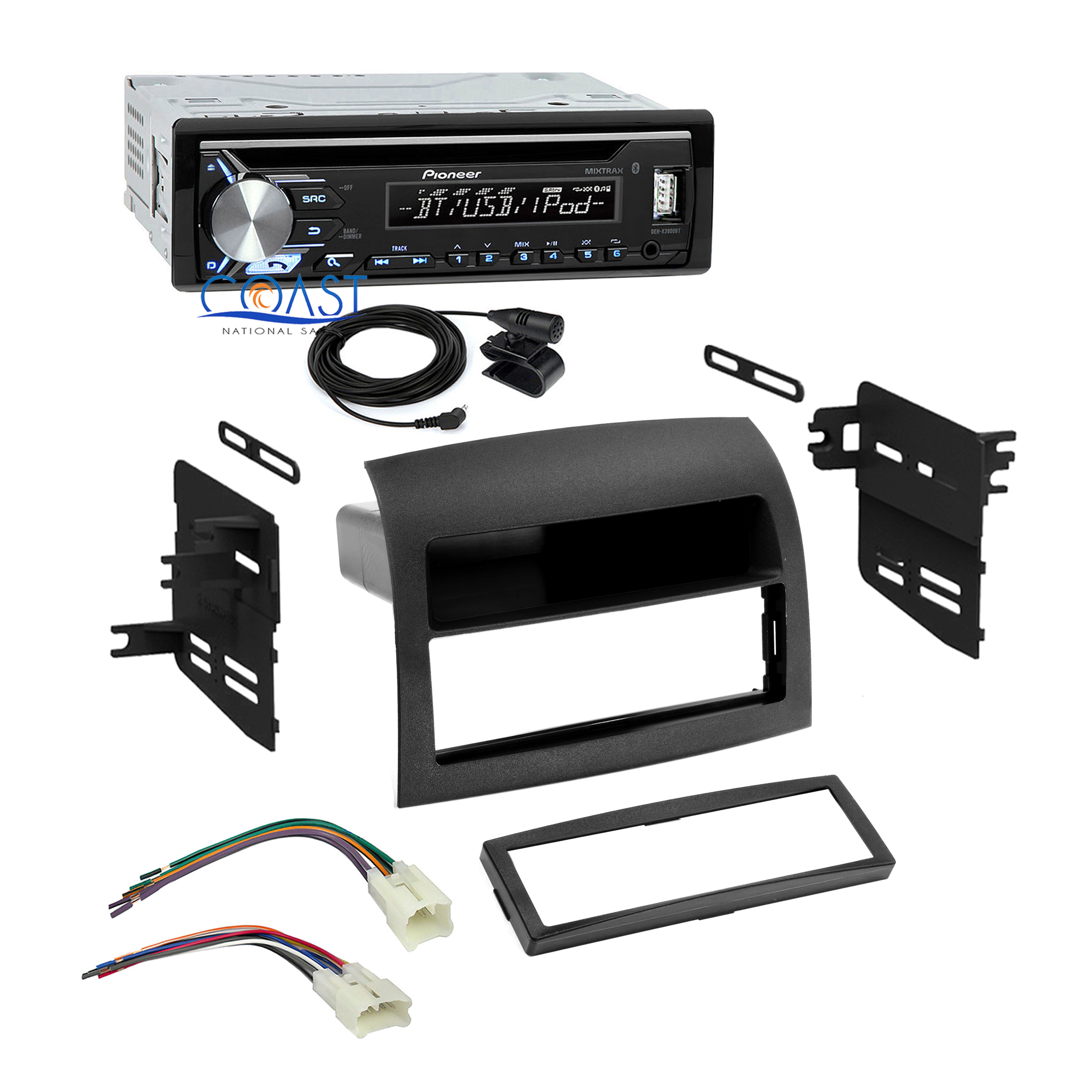 Pioneer Car Radio Bluetooth Single Din Dash Kit Harness for 04-10 Toyota Sienna