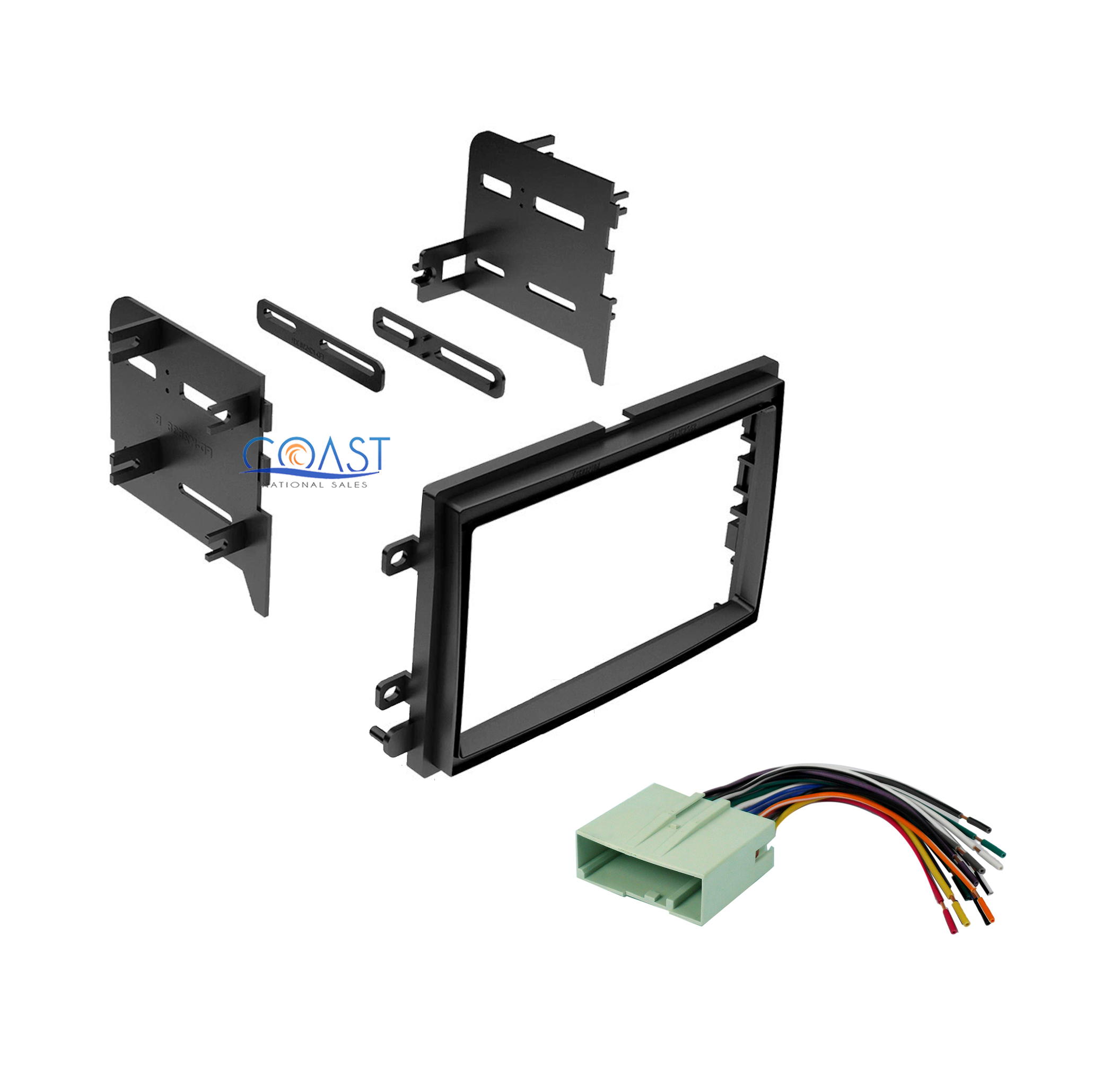 car radio stereo double din dash kit wiring harness