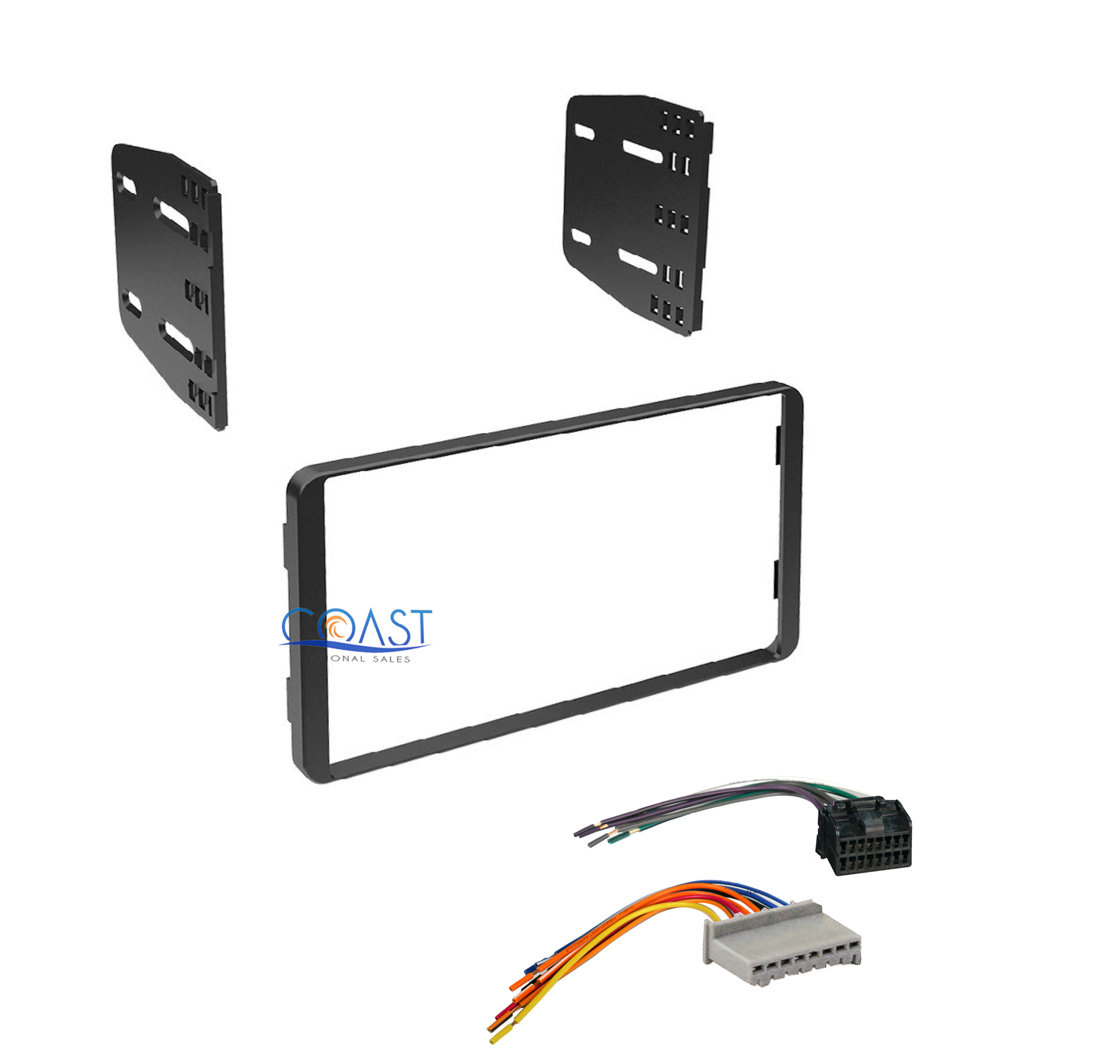 Double Din Stereo Dash Kit   Harness For 1995