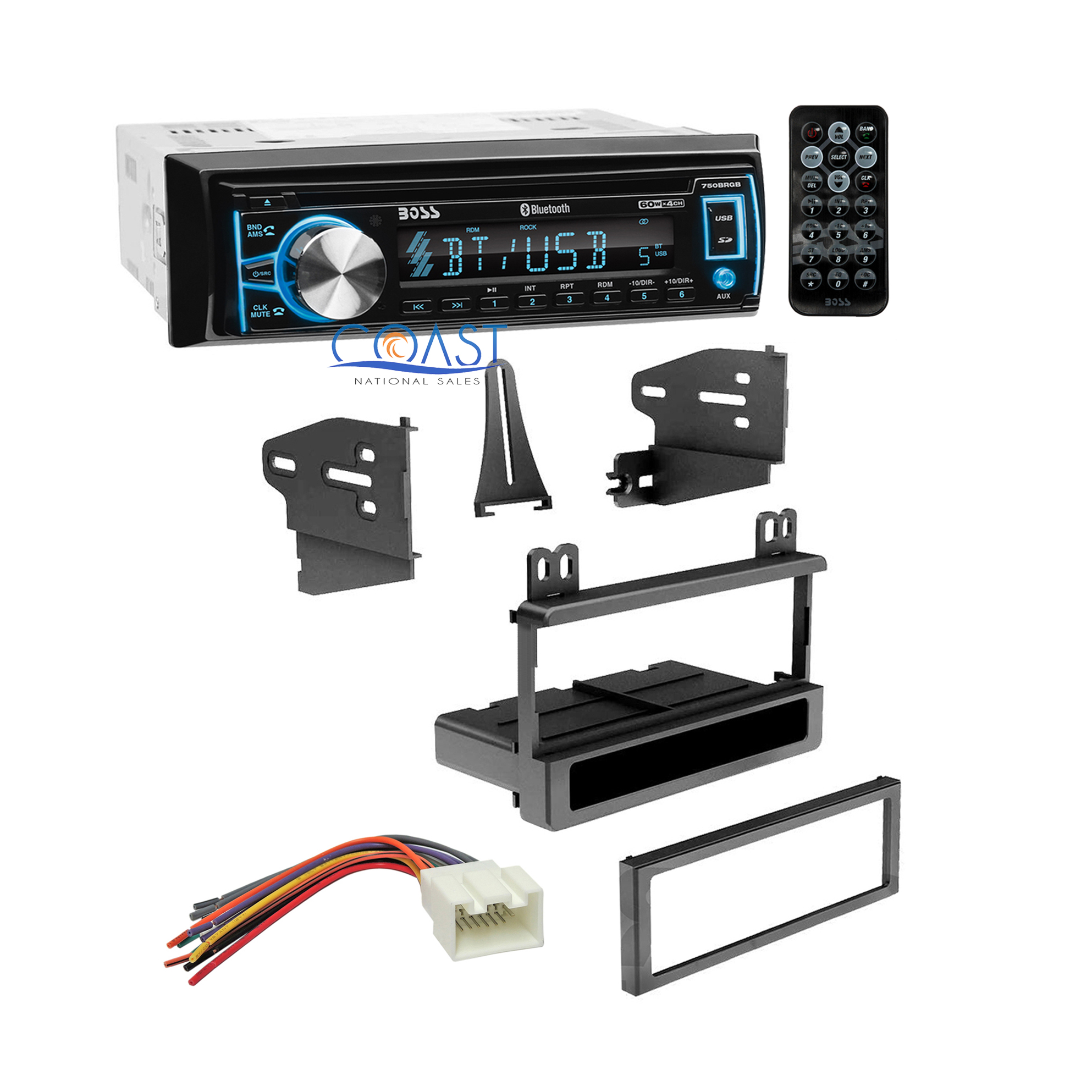 Boss Bluetooth Car Stereo   Dash Kit Harness For 1995