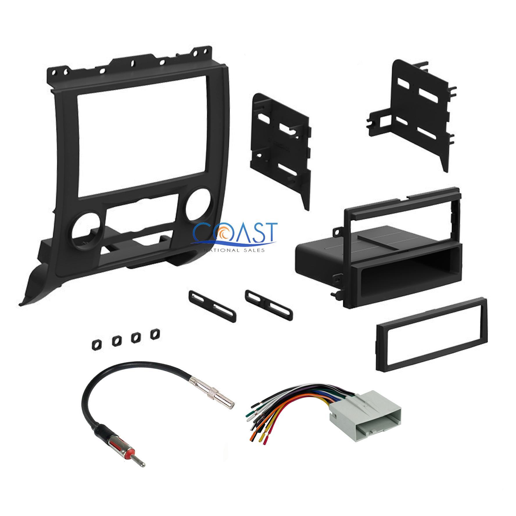 Car Radio Stereo Dash Kit Amp Harness Antenna for 2008-2011 Ford Mercury Mazda