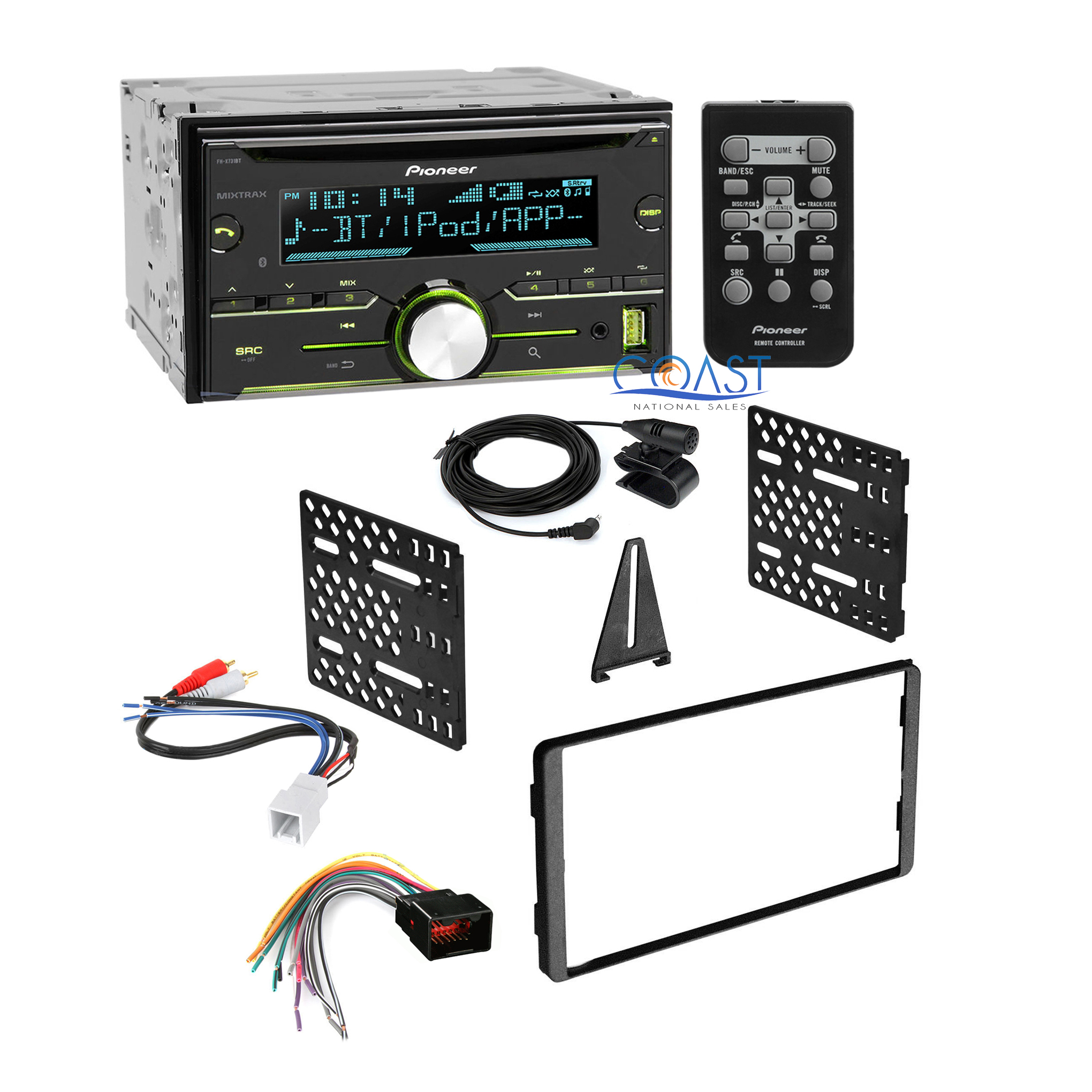 Pioneer Bluetooth Car Stereo Dash Kit Harness For 98 Up Ford Wiring To Lincoln Mercury