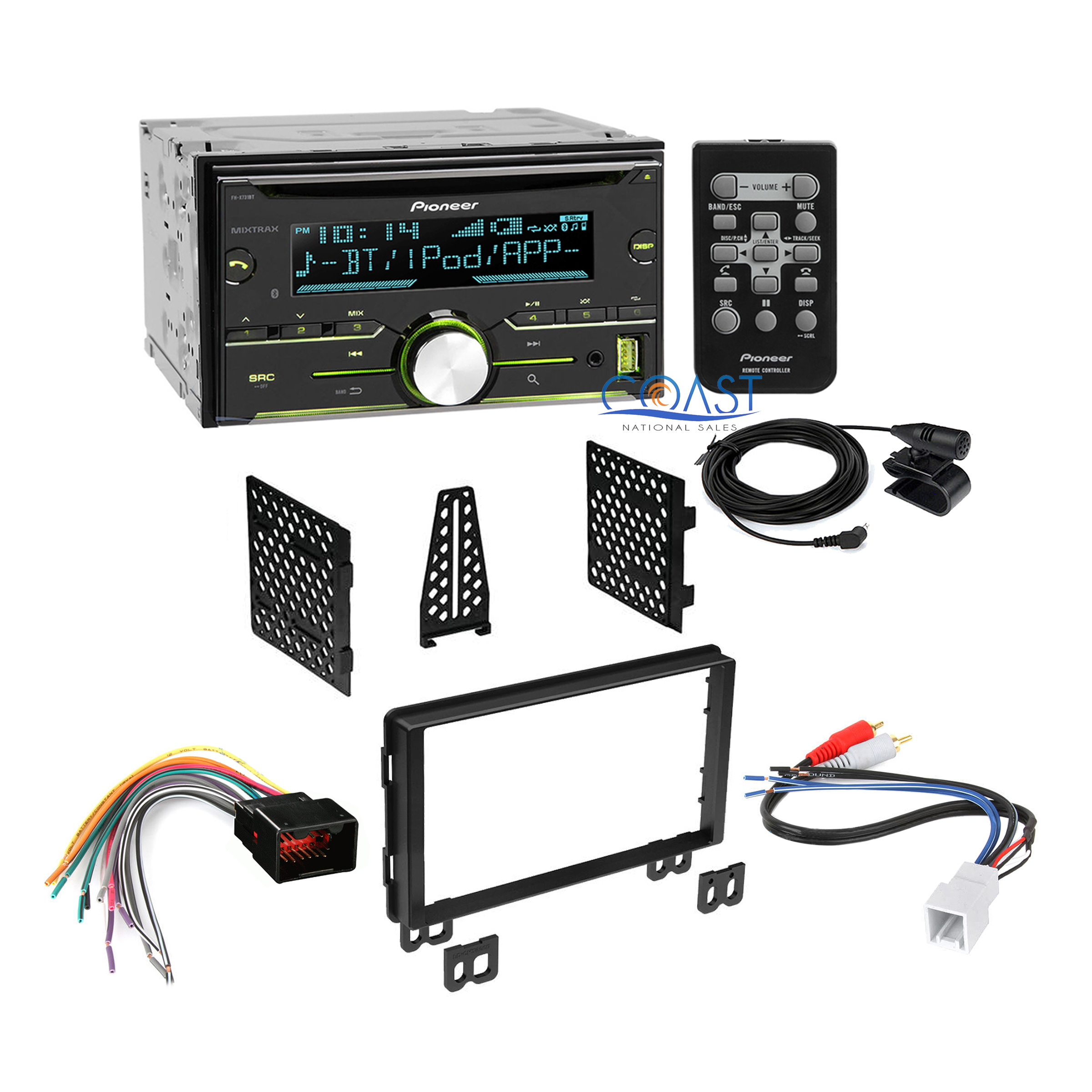 Car Radio Stereo Double Din Dash Kit Harness for 2003-2006 Ford Lincoln Mercury