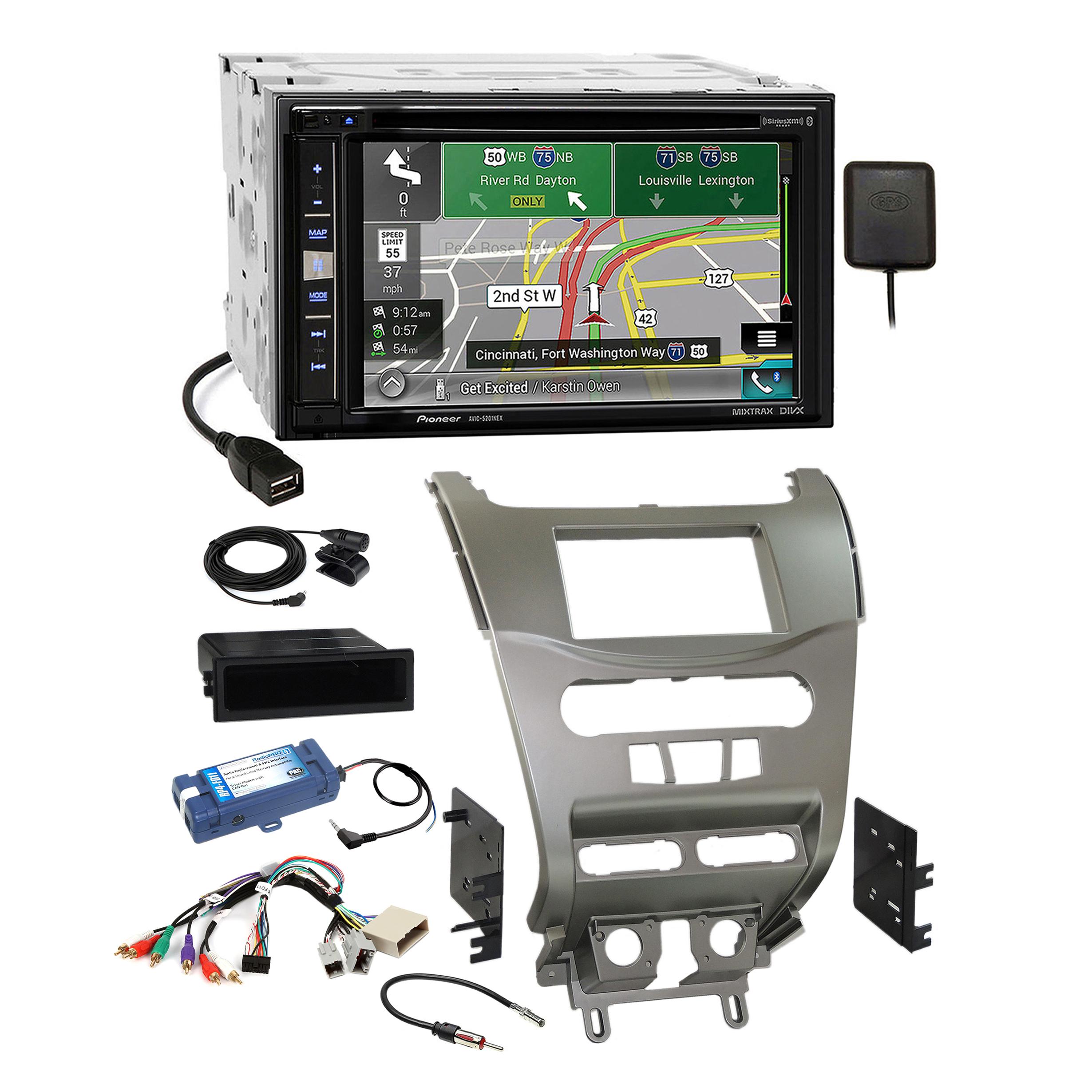 Astounding Pioneer Gps Carplay Sirius Stereo Silv Dash Kit Amp Harness For 08 Wiring Cloud Pendufoxcilixyz