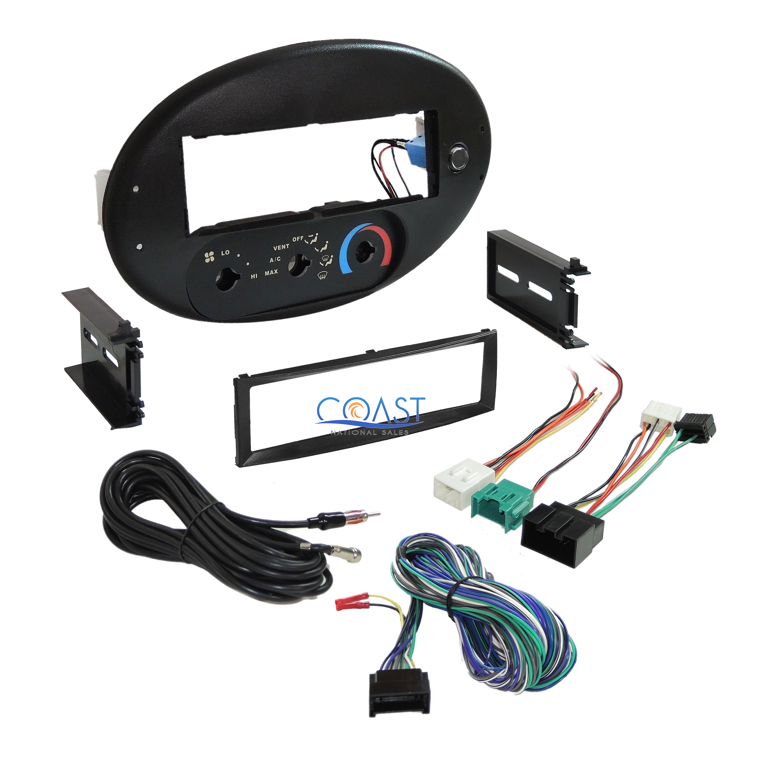 Car Radio Stereo Dash Kit Bezel Harness For 1996