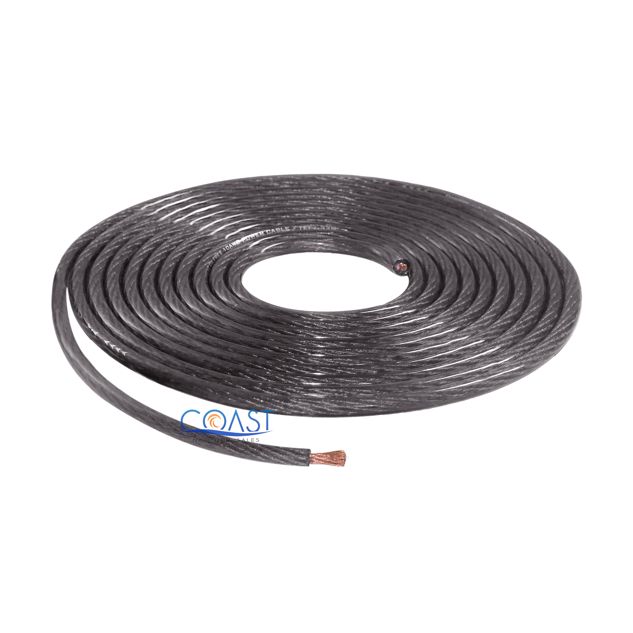 De S About Ofc Full Copper Stranded 10 Gauge Awg Black Power Ground Wire Cable 5ft
