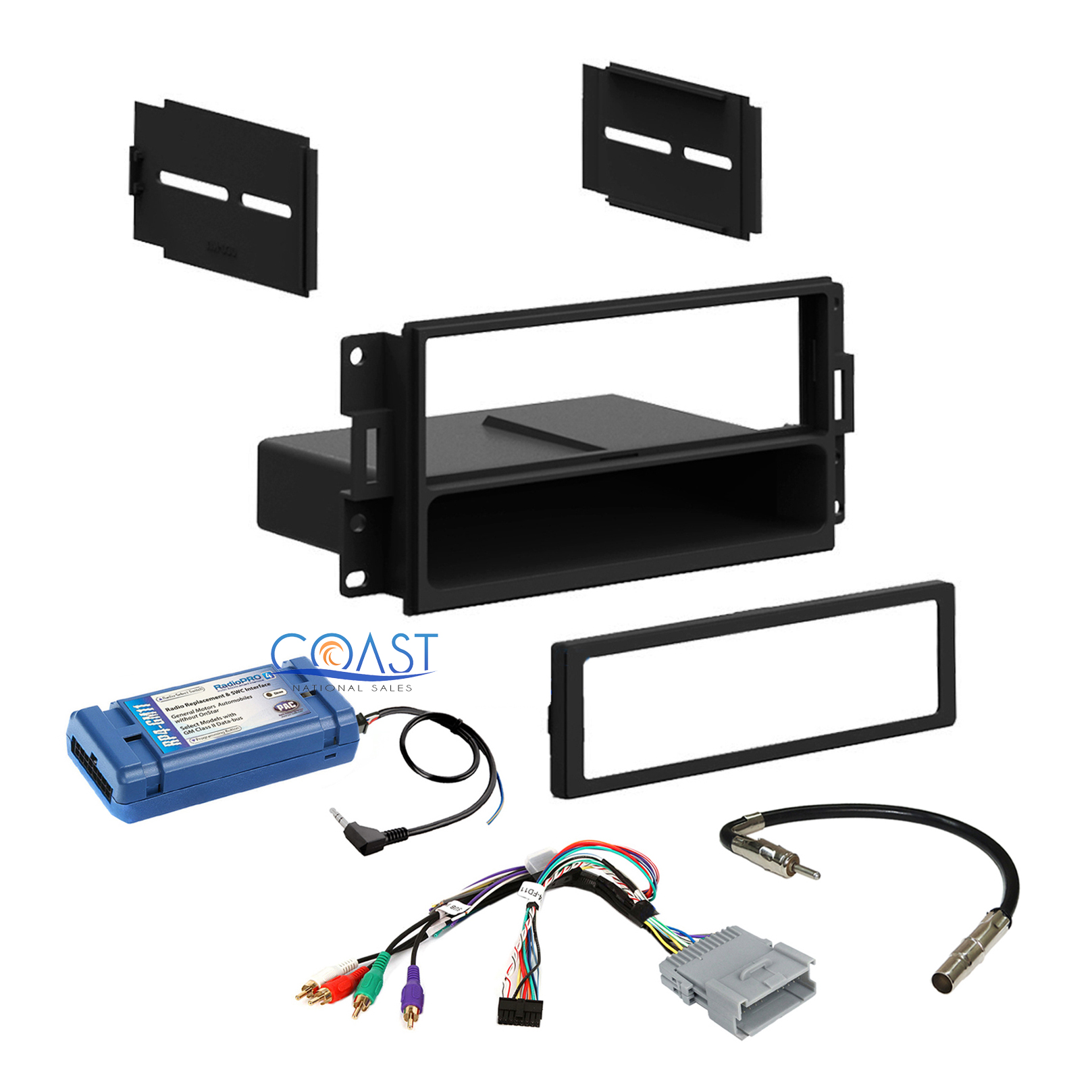 Car Radio Stereo Dash Kit Amplified Swc Harness For 2004