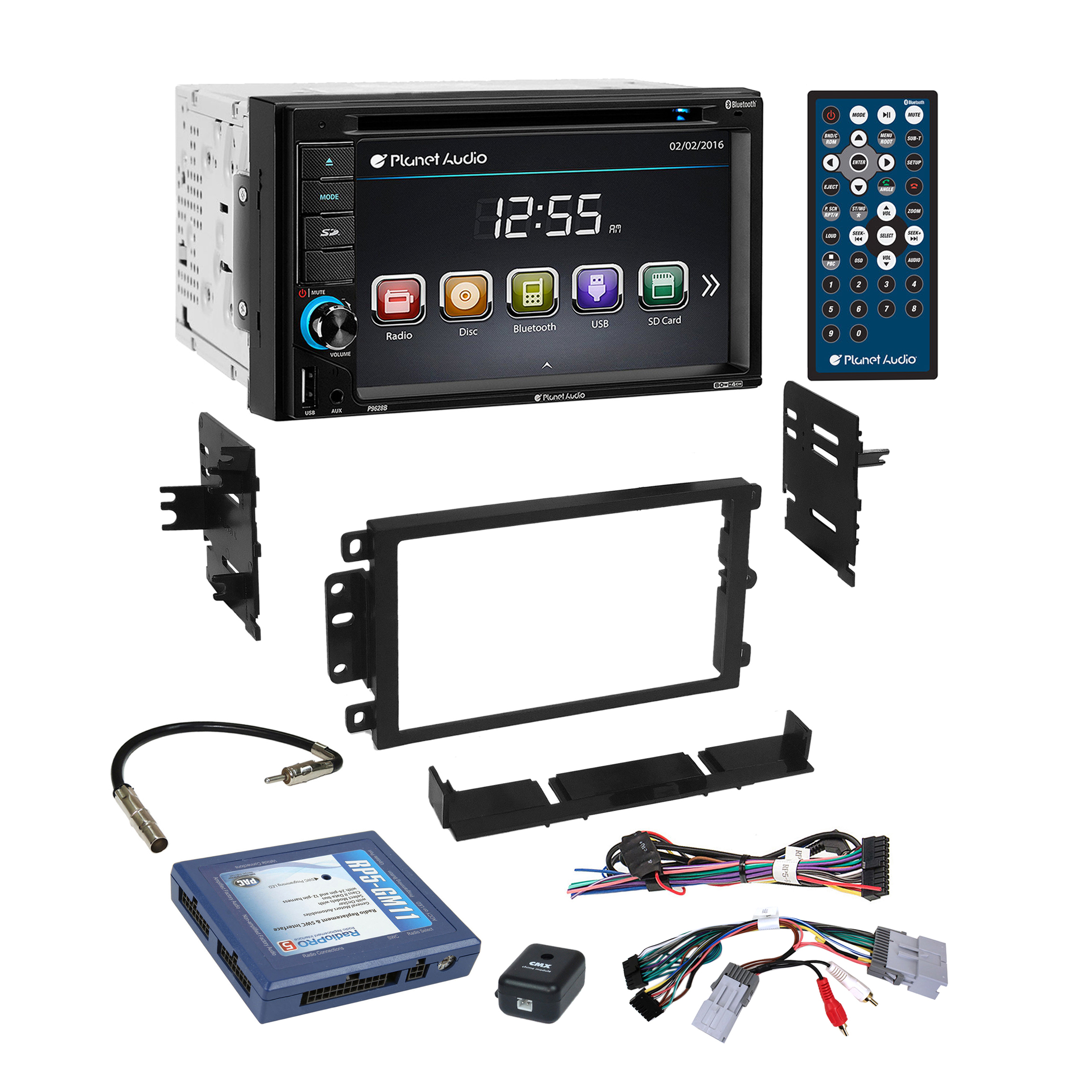 Bose Car Stereo >> Details About Planet Audio Bluetooth Car Stereo Dash Kit Bose Onstar Harness For Gm Chevrolet