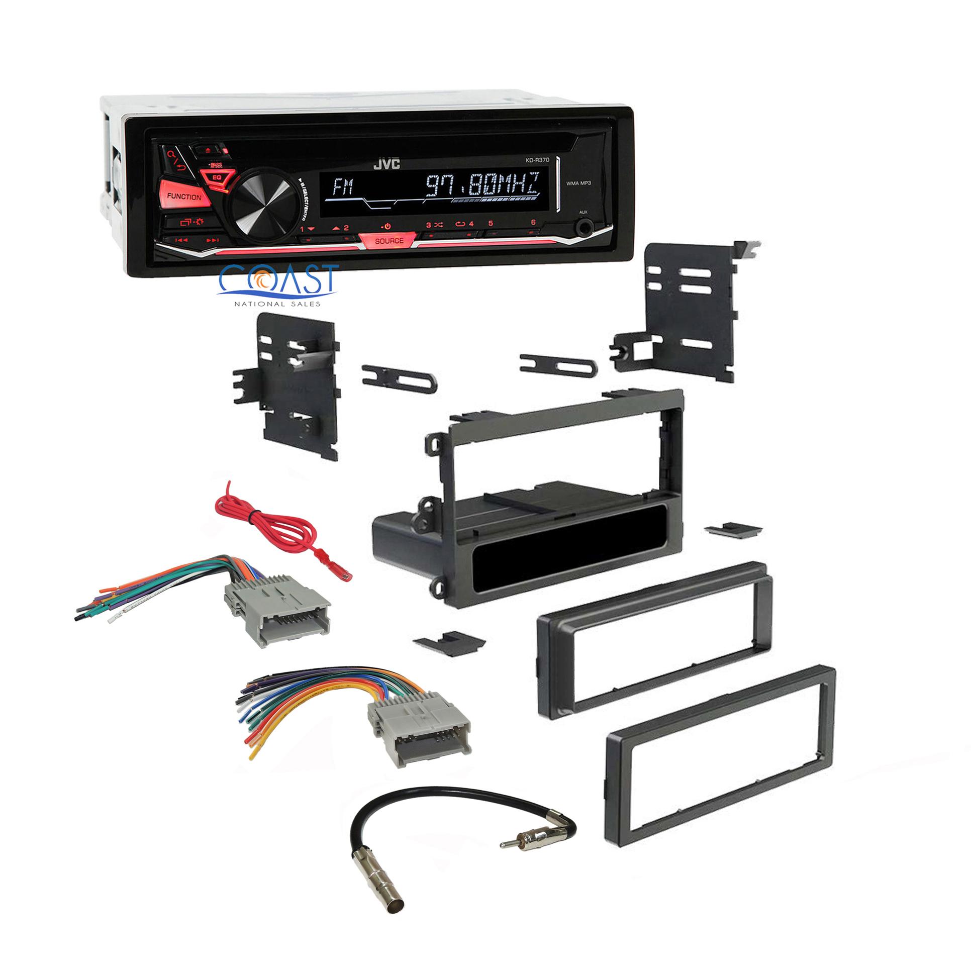 [ZTBE_9966]  Estéreo Radio JVC doble DIN Dash Kit de alambre arnés para 1992-up Chevy  Gmc Pontiac | eBay | Jvc Wire Harness Chevy |  | eBay