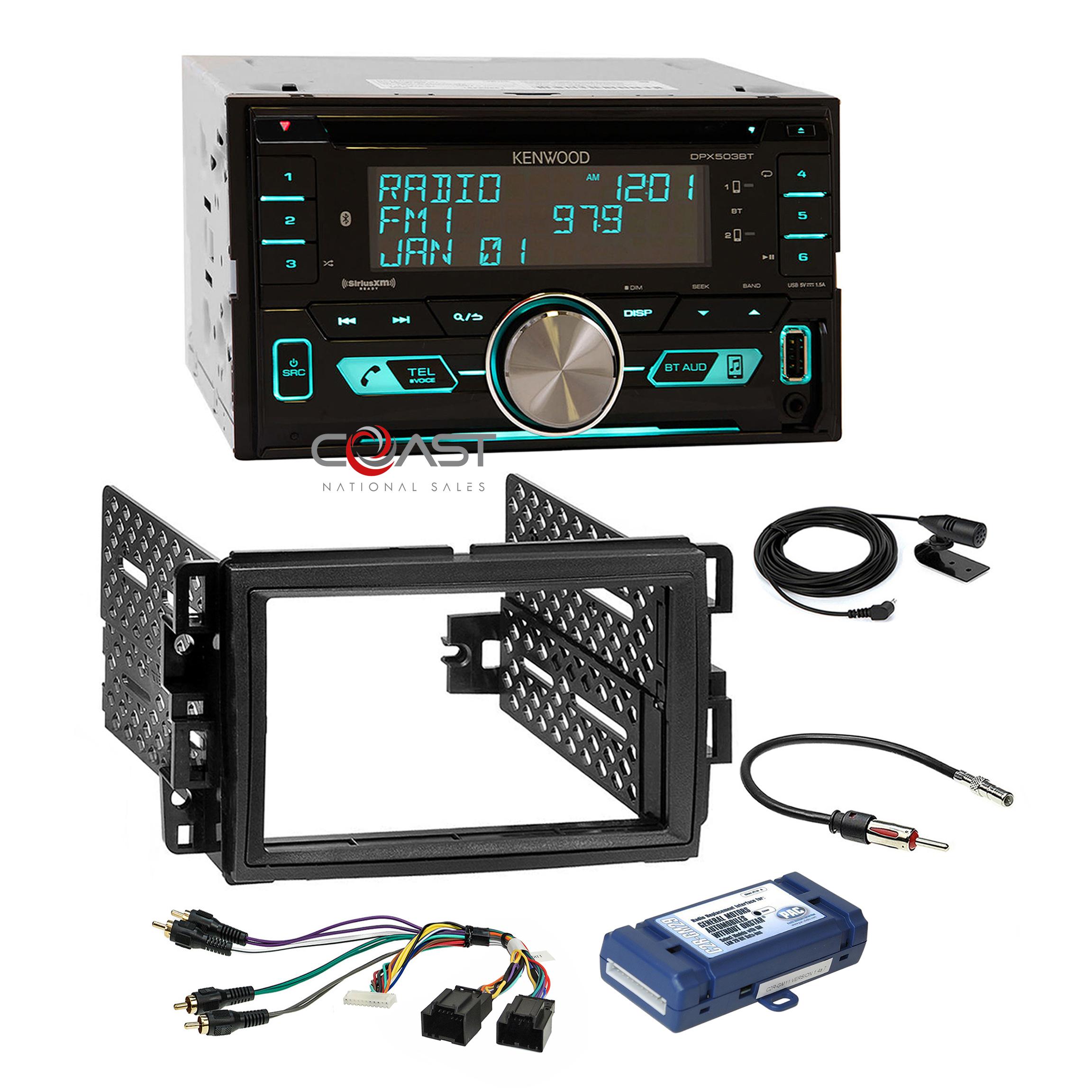 Chevy GMC Pontiac Kenwood Dual-DIN USB//AAC//WMA//MP3 CD Receiver Dash Kit 1992