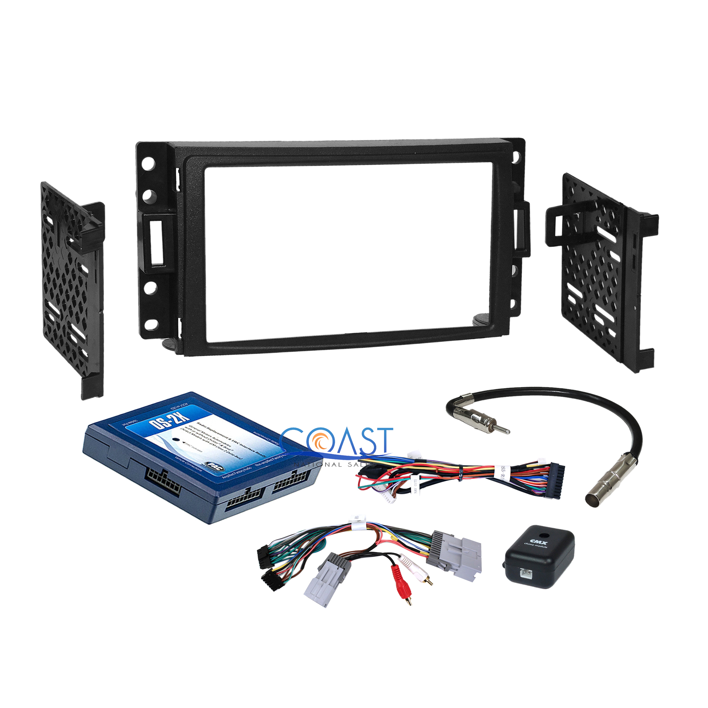 Details about Car Stereo 2DIN Dash Kit Bose Onstar Harness for 05+ Chevy  Buick Pontiac Saturn
