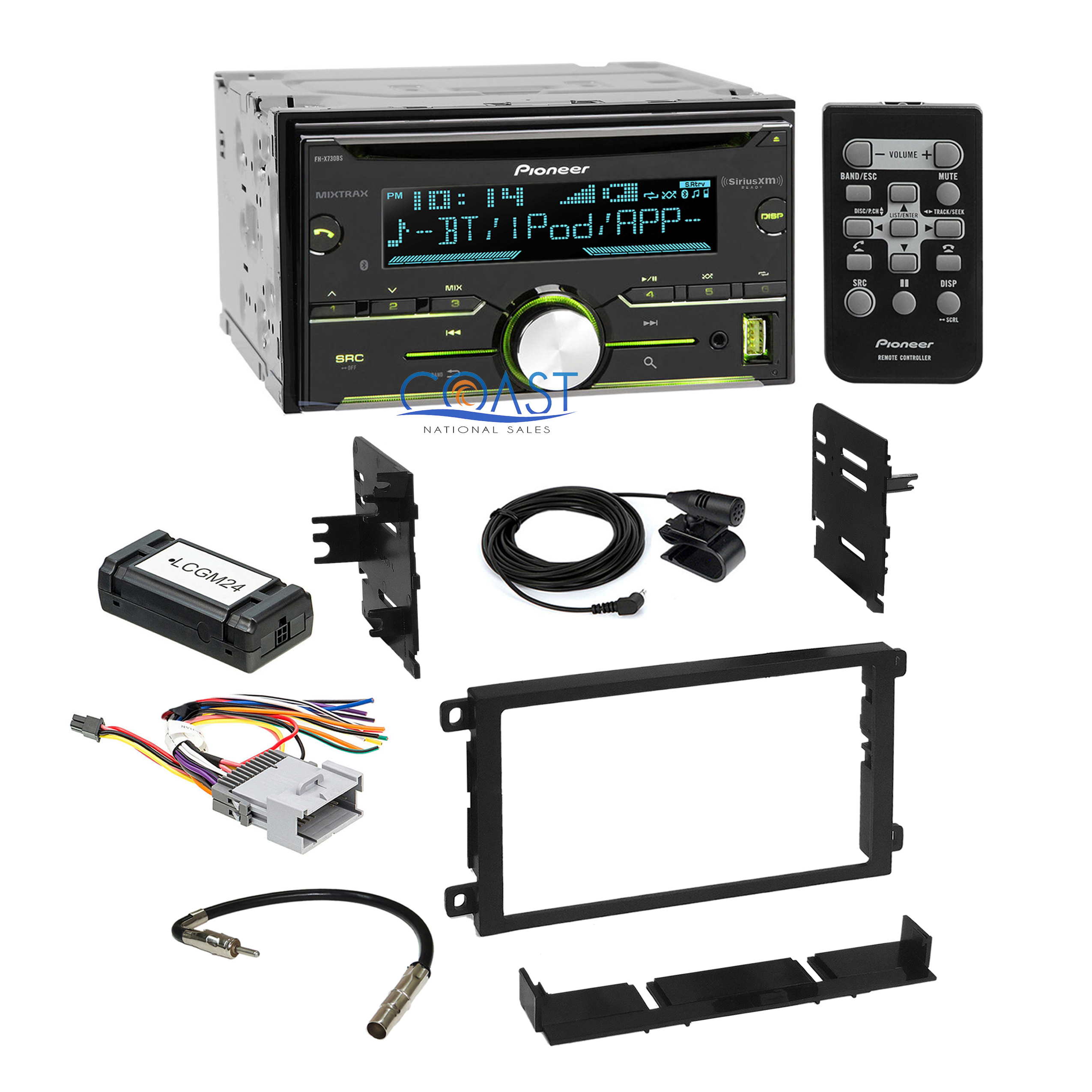 Details about Pioneer Car CD USB Sirius Xm Stereo Dash Kit Harness on