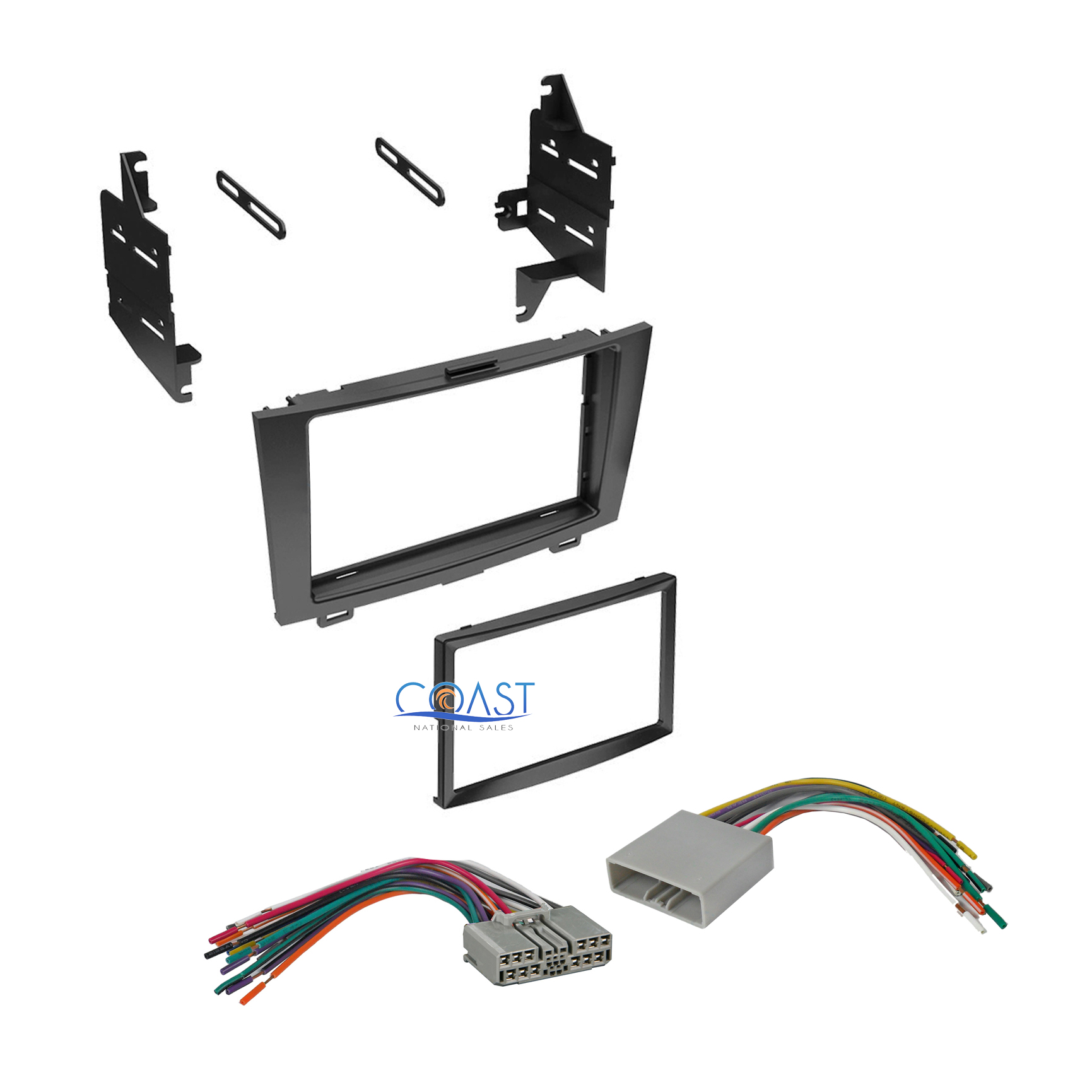 Double Din Car Stereo Dash Kit   Wiring Harness For 2007