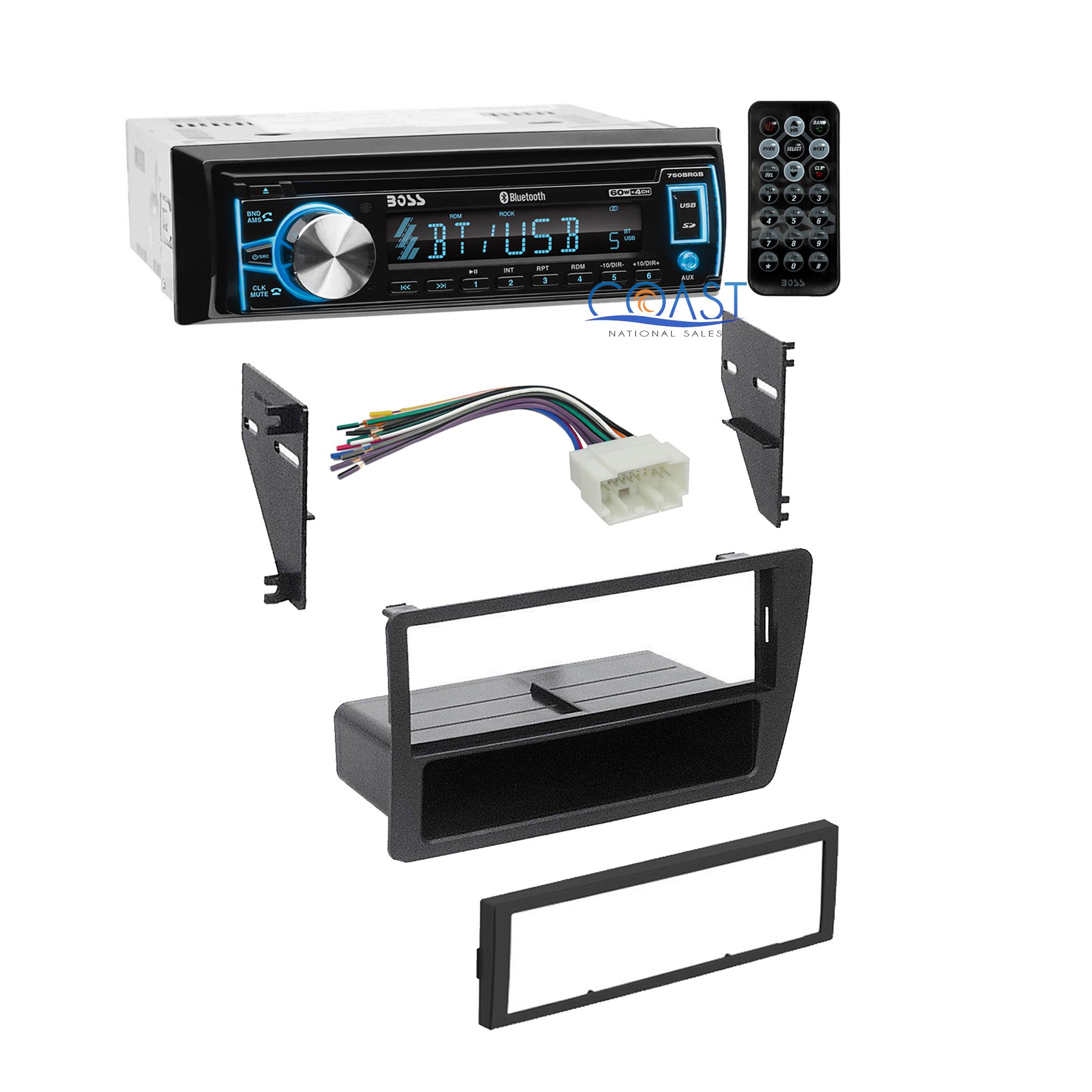 Boss Radio Stereo + Single DIN Dash Kit Wire Harness for 2001-2005 Honda  Civic   eBayeBay