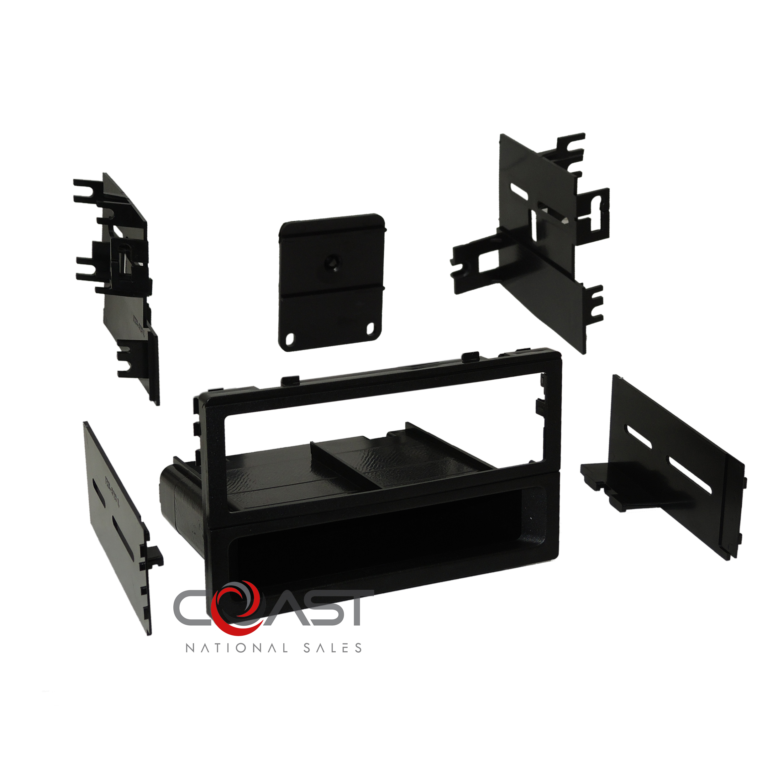 Car Radio Single Din Black Install Dash Kit For 1986-2012