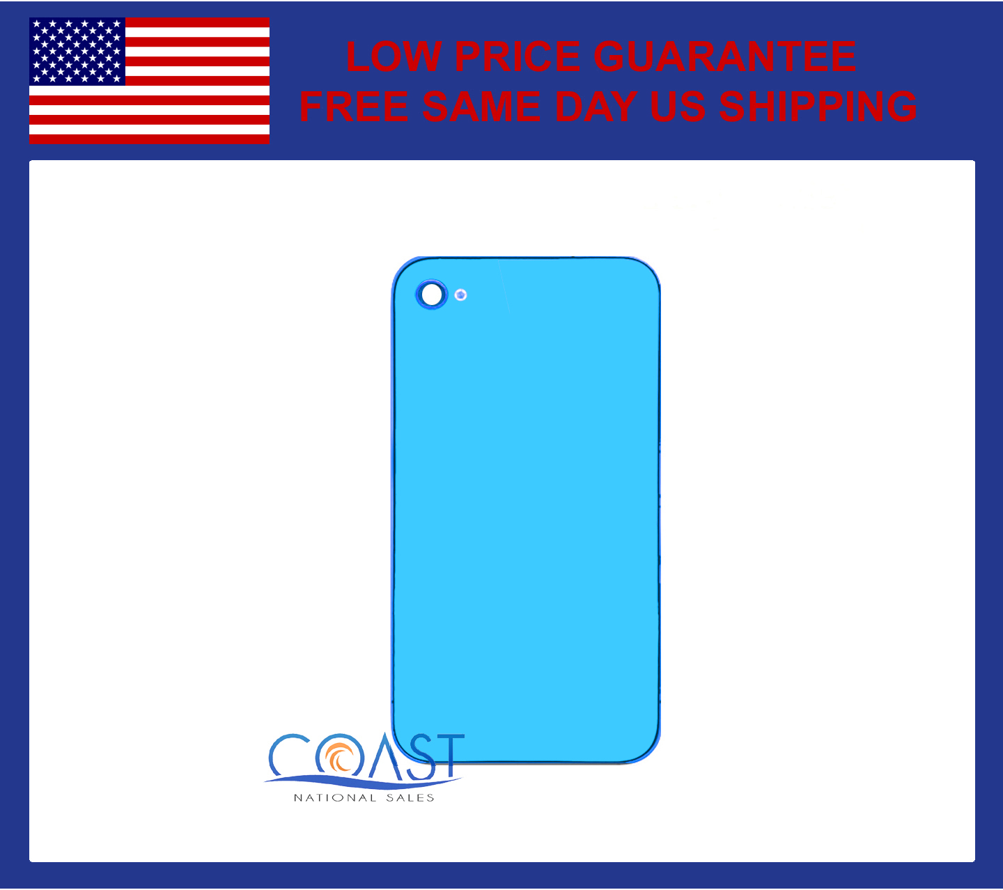 the best attitude 19237 58719 Details about IPHONE 4S REPLACEMENT BACK PANEL - LIGHT BLUE