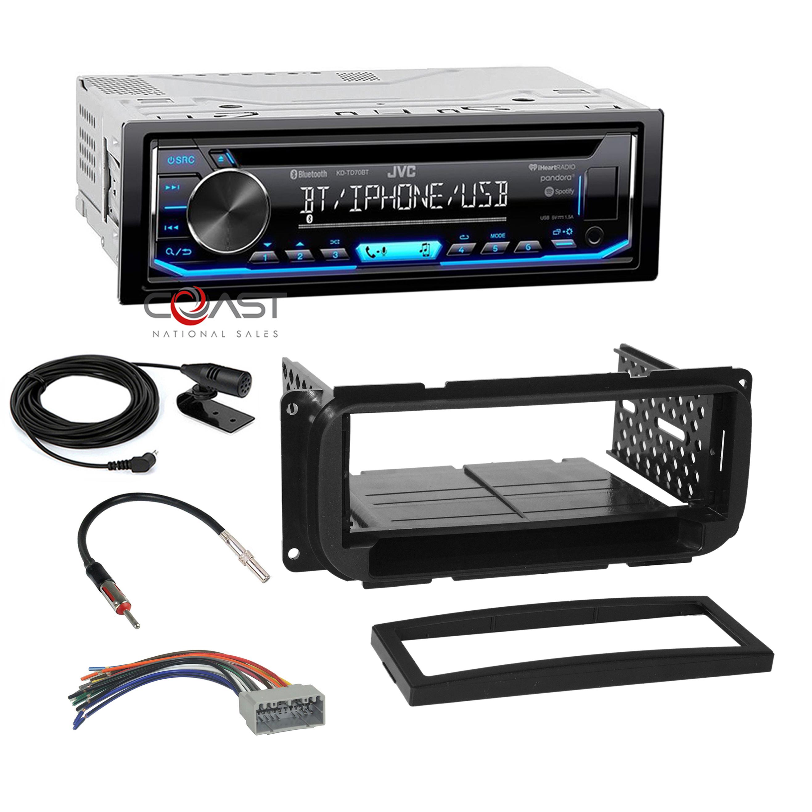 JVC Car Stereo Radio Single Din Dash Kit Harness For 02-up Chrysler Dodge Jeep