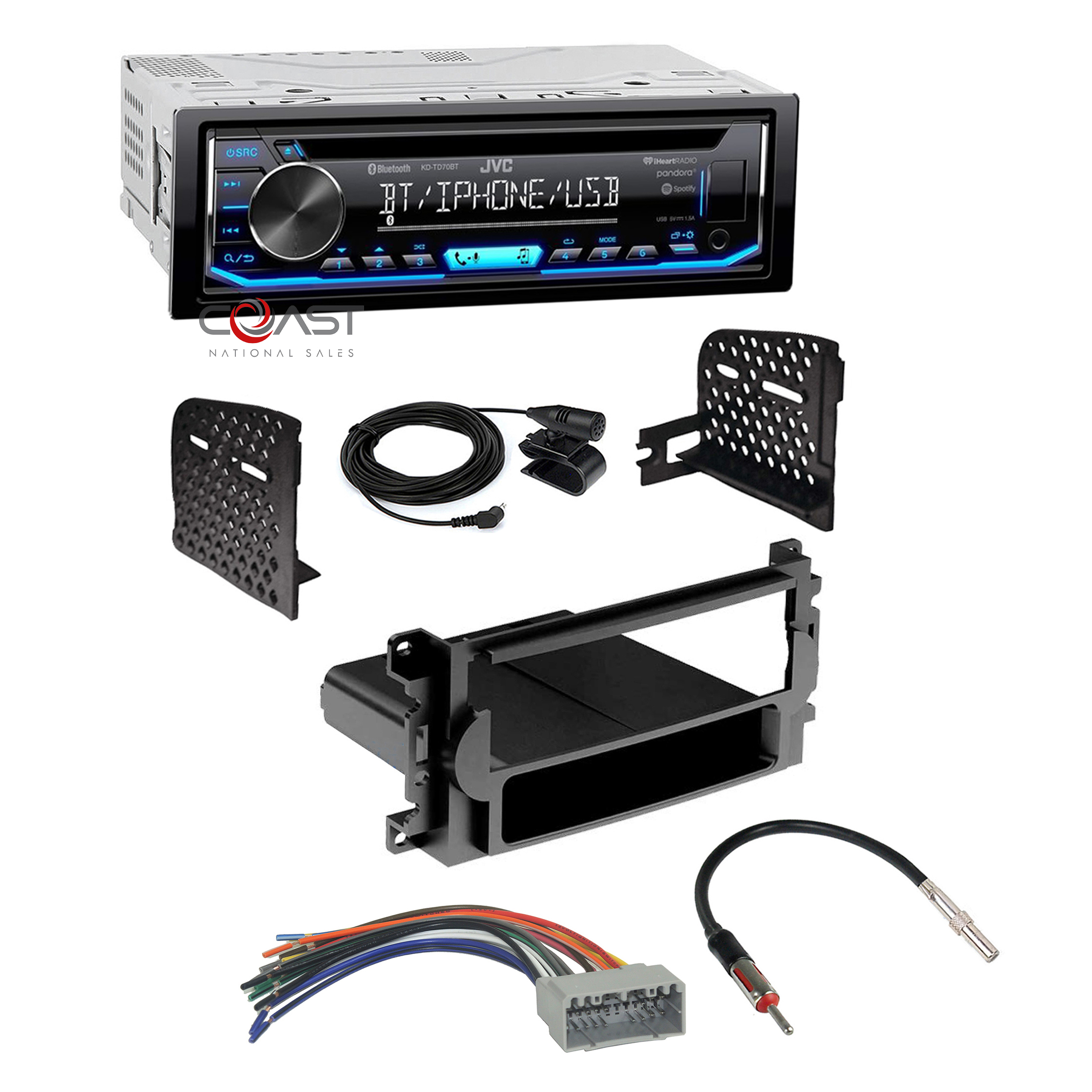 Amazing Jvc Car Radio Pandora Single Din Dash Kit Harness For 04 08 Chrysler Wiring Digital Resources Inamasemecshebarightsorg