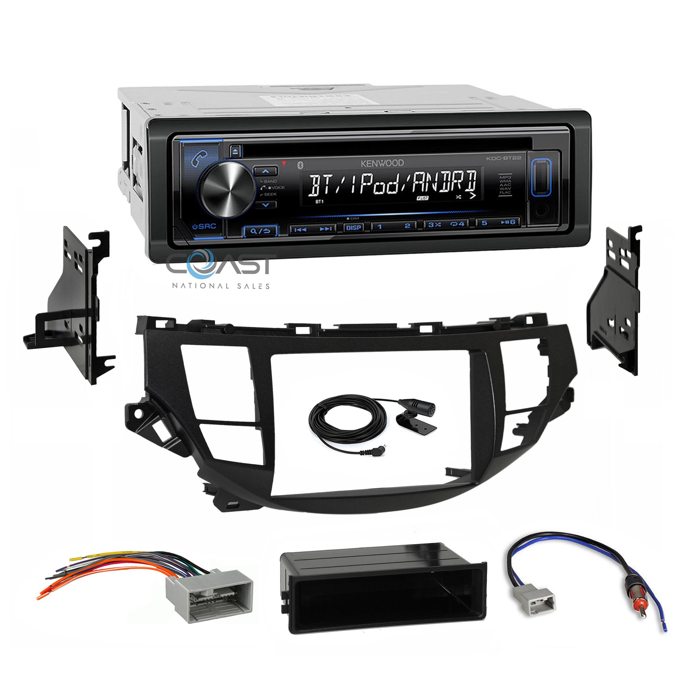 Kenwood Double Din CD Player Receiver W// Honda Accord Installation Dash Kit