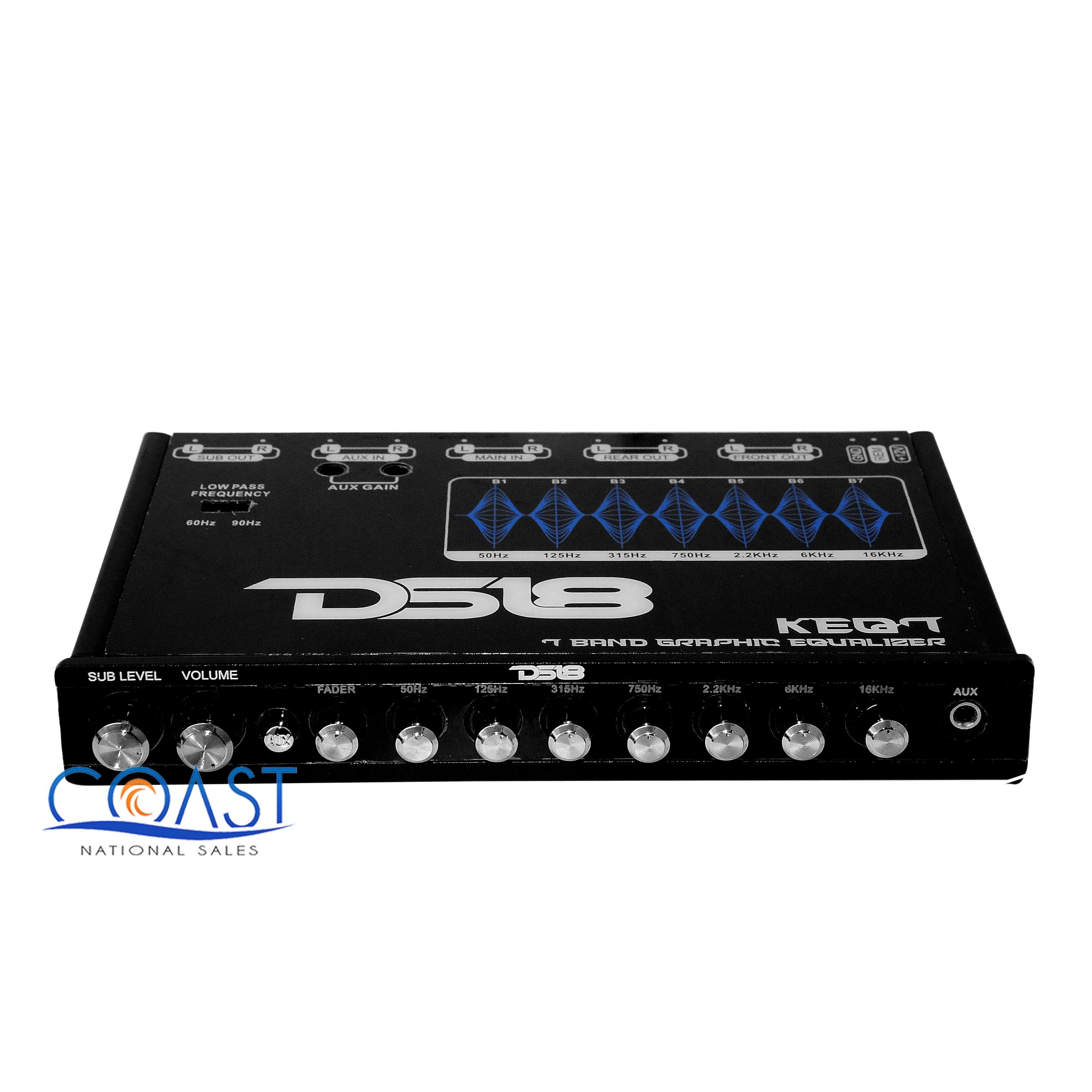 Details About Car Audio 6 Channel 7 Band Graphic Equalizer Car Audio Subwoofer Aux Ds18 Keq7