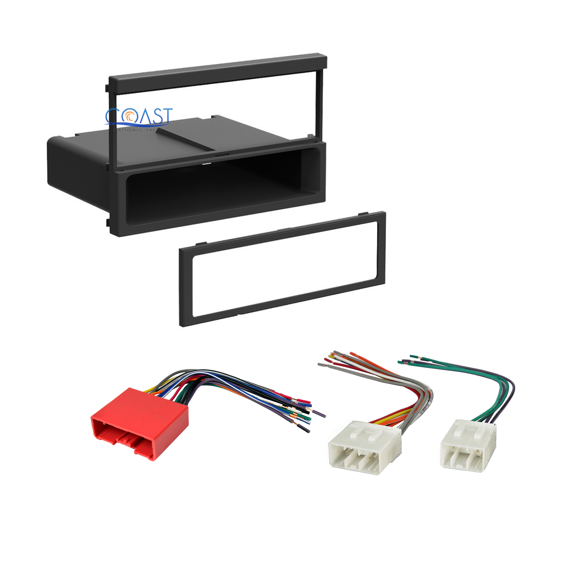 Details about Single DIN Install Car Radio Stereo Dash Kit Harness on