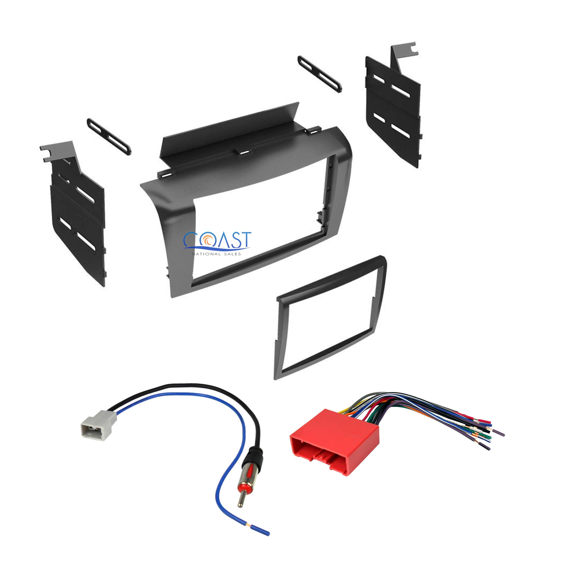 Double DIN Install Stereo Dash Kit + Harness + Antenna for 2004-2009 Mazda 3  | eBayeBay