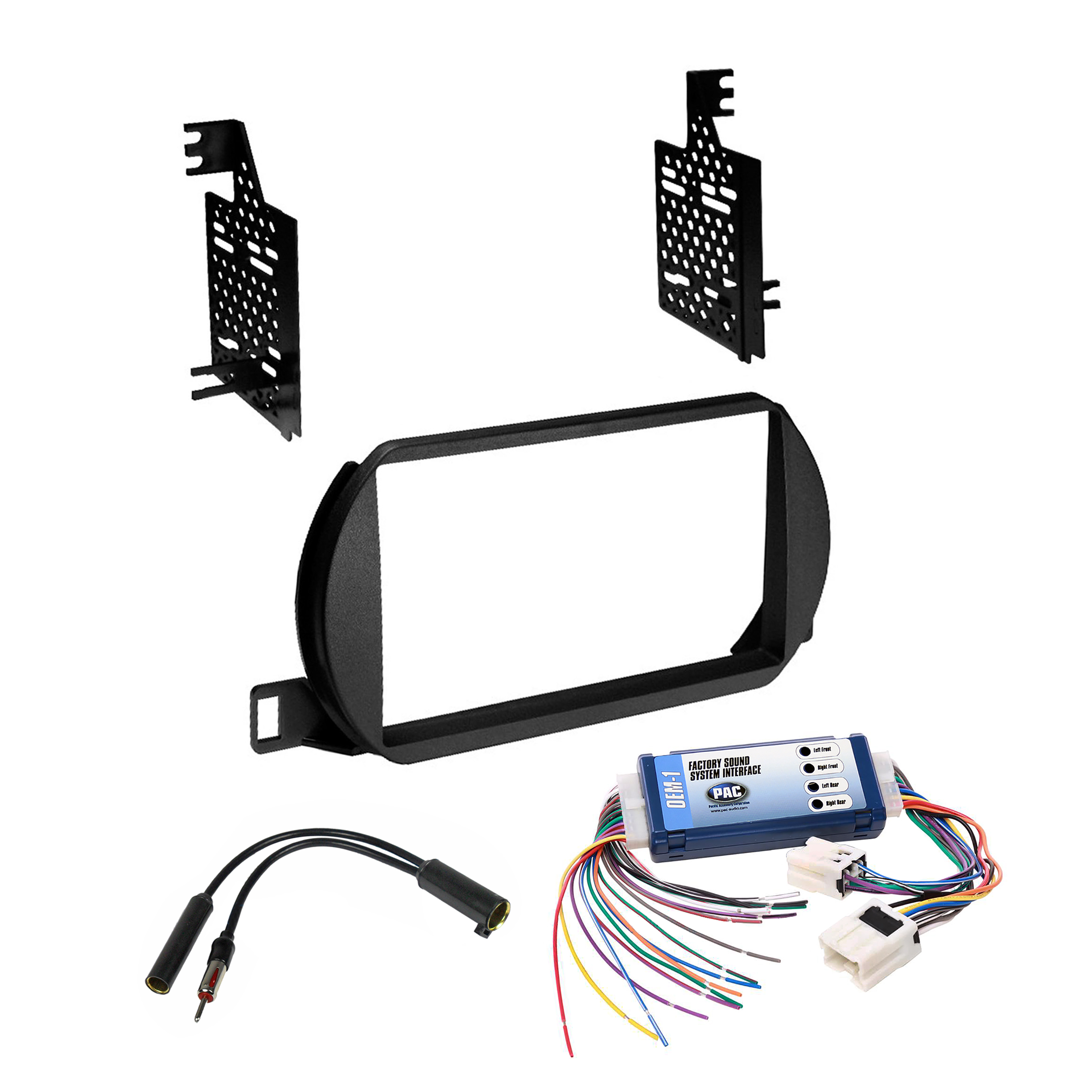 Details about Car Radio Stereo 2 Din Dash Kit Bose Harness Interface on