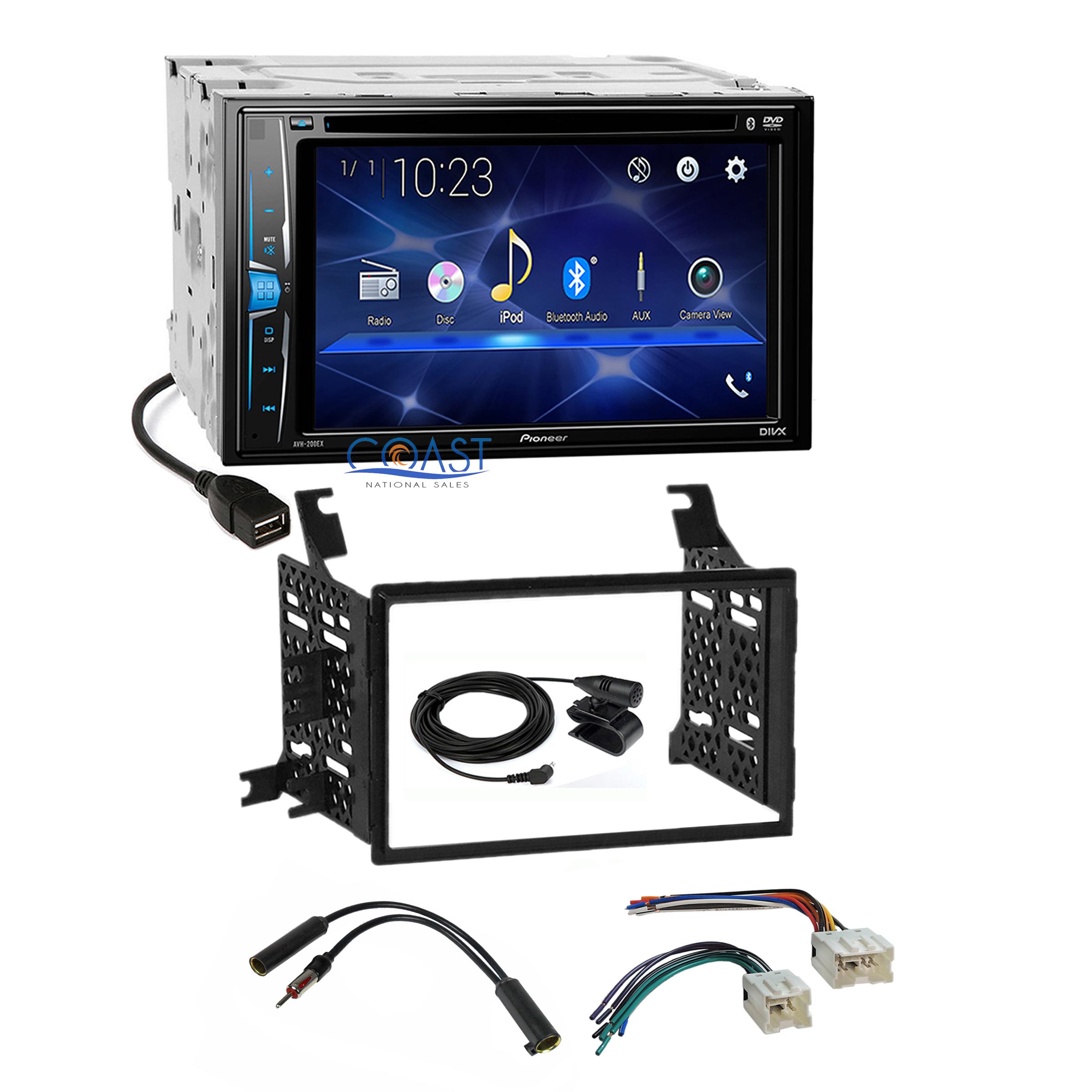 Pioneer Dvd Bluetooth Stereo Dash Kit Harness For 05 Nissan Pathfinder Wiring Xterra