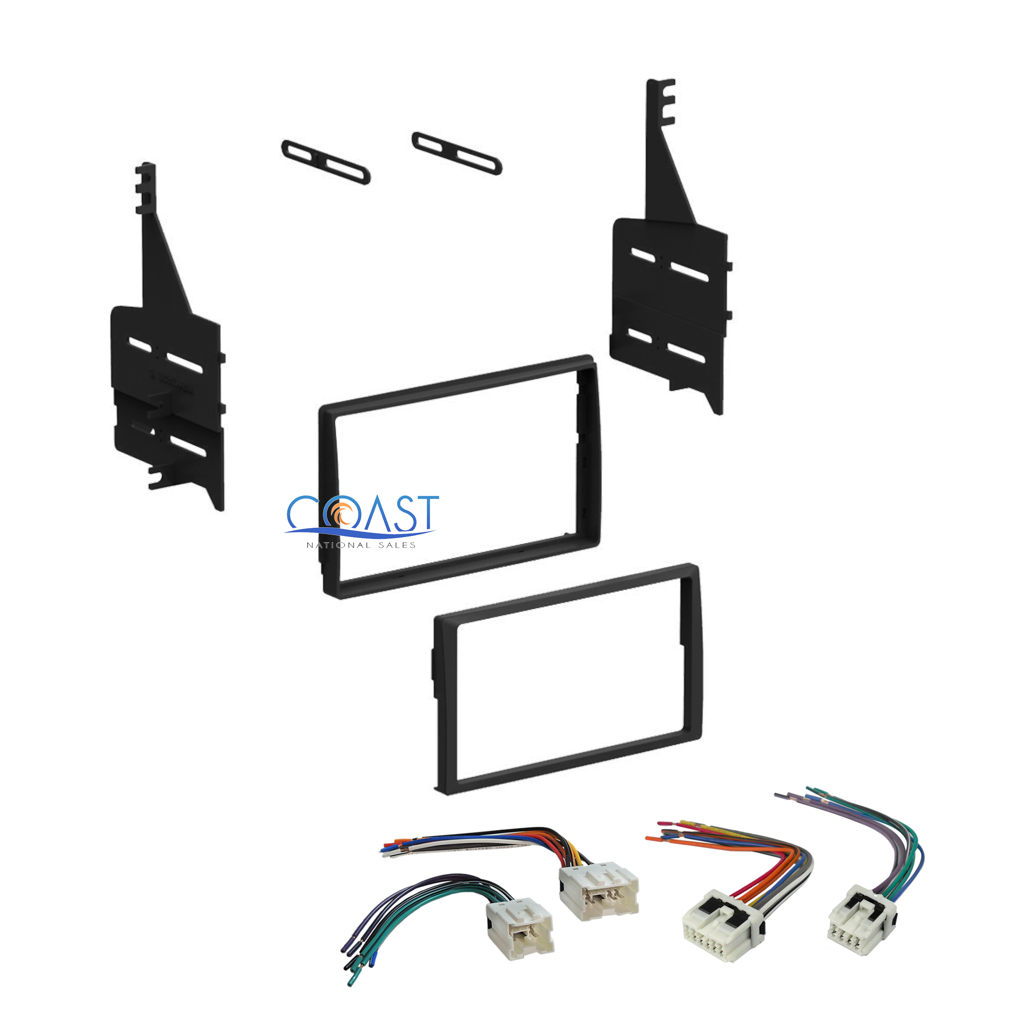 single double din stereo dash kit harness combo for 2005 2006