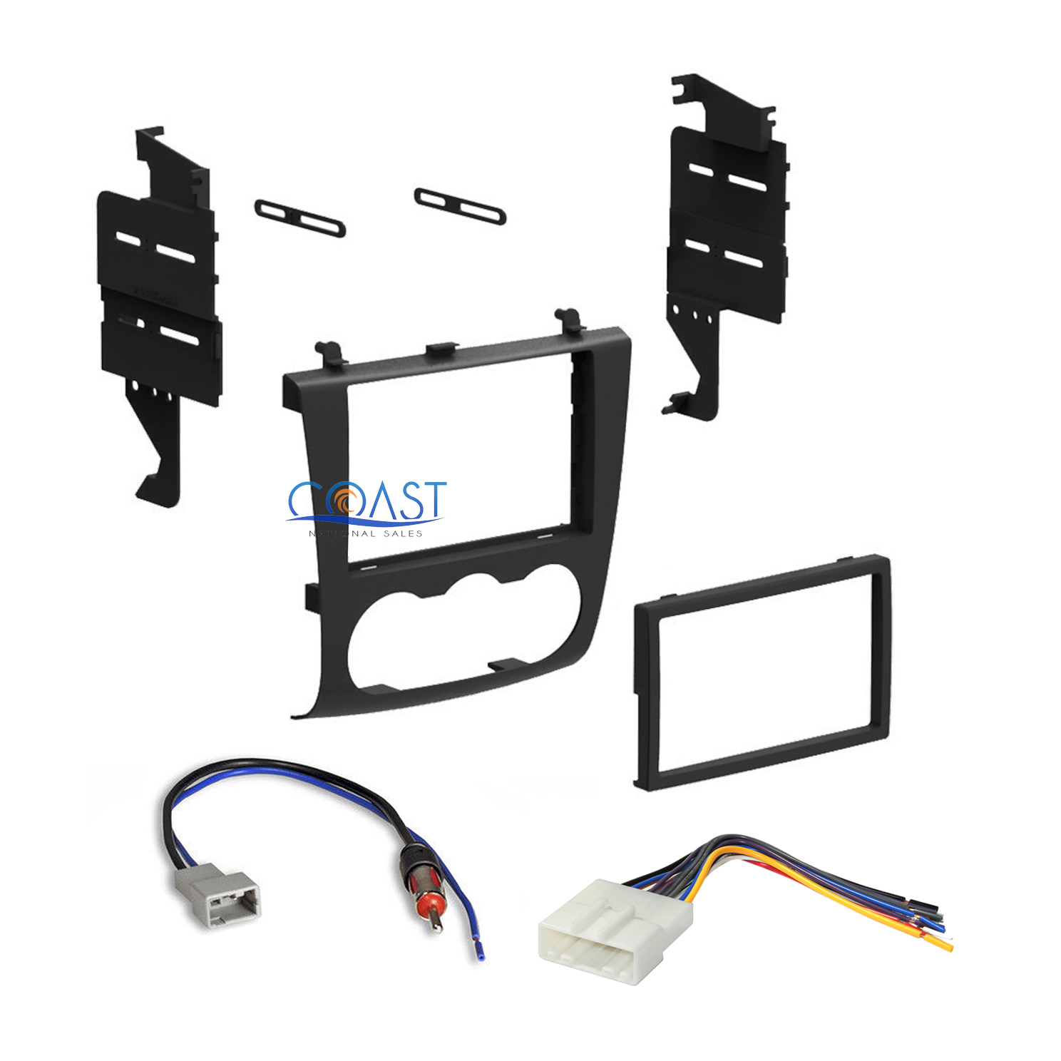 2007-2011 Nissan Altima Single//Double Din Dash Kit Install Wire harness antenna