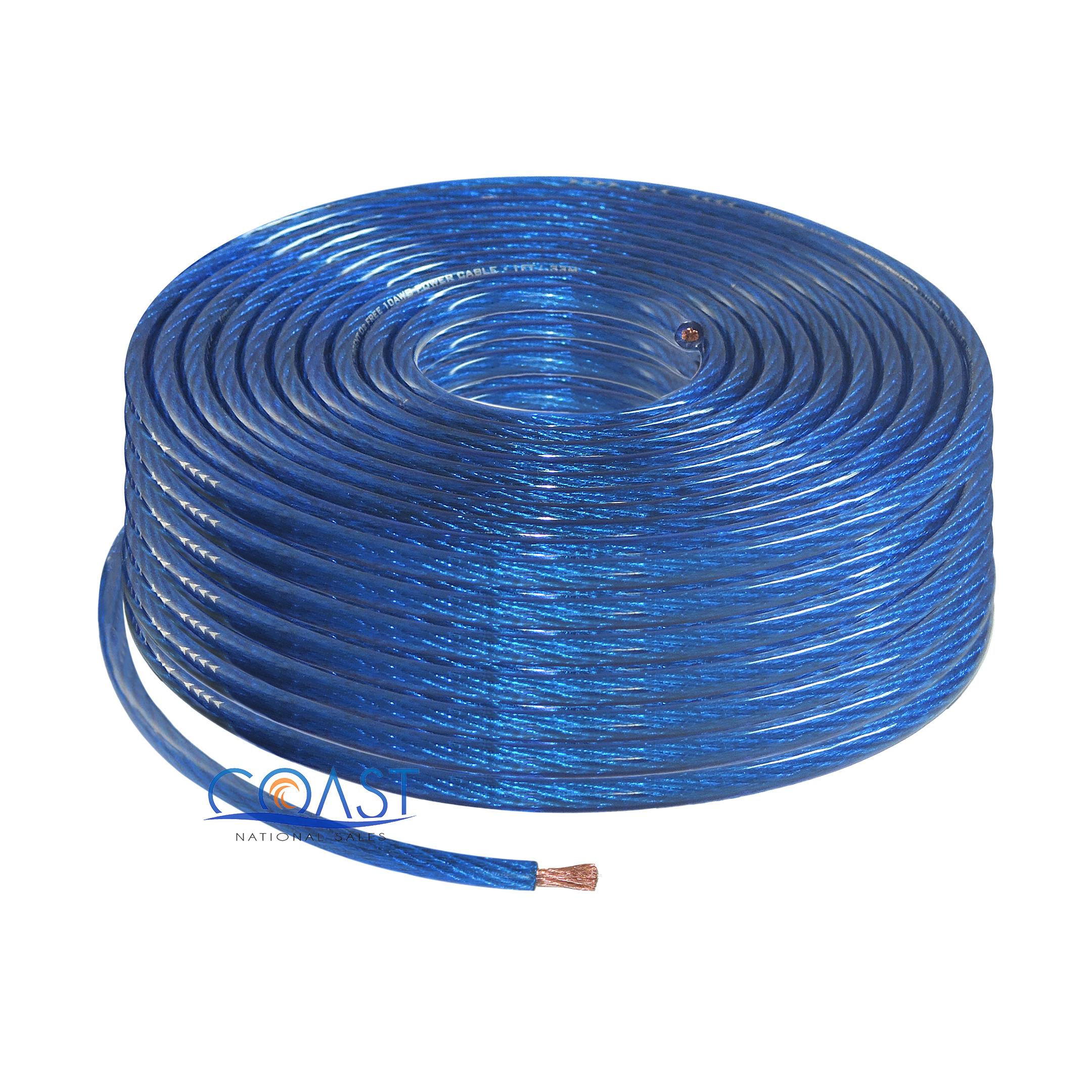 De S About Ofc Full Copper Fine Stranded 8 Gauge Awg Blue Power Ground Wire Cable 100ft