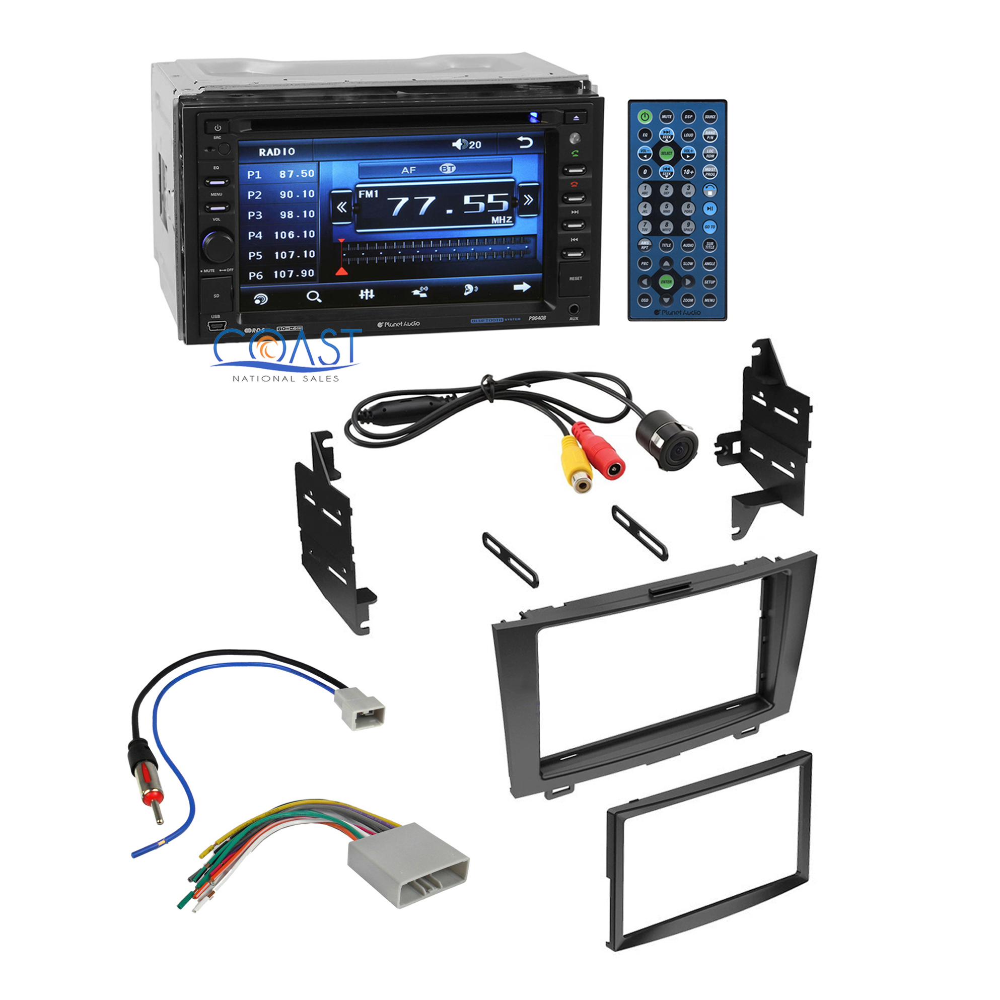 Planet Audio Car Stereo Double Din Dash Kit Harness For 2007 10 Honda 50 Wiring Crv Cr V