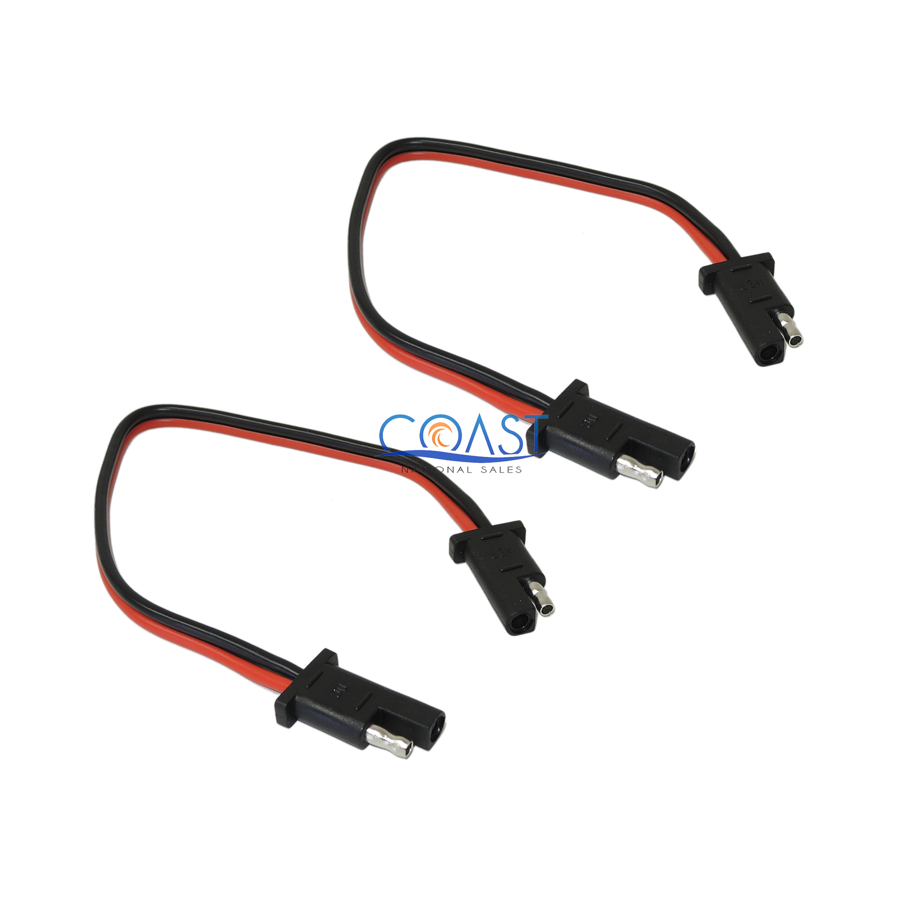 2pc 10 Gauge Car Quick Disconnect Connect 2-Pin SAE Waterproof Wire Harness Plug