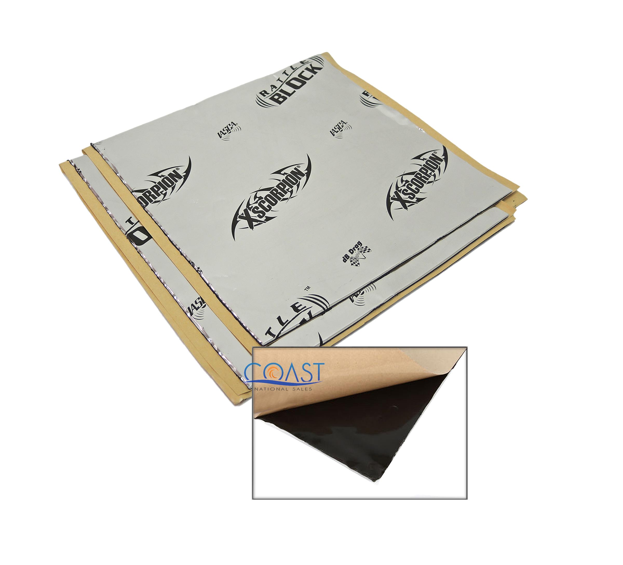 "Self-Adhesive Sound Deadener Rattle Block Insulation Mat 1.5 Sq Ft 12/""x 18/"""