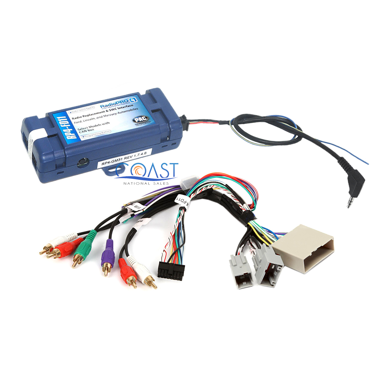 Car Radio Harness Interface Amp Steering Wheel For Ford Lincoln Mercury Wire