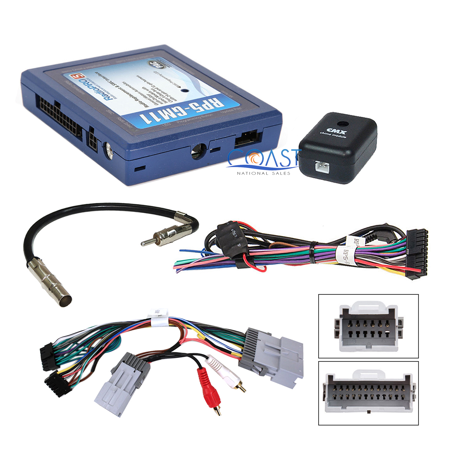 PAC RP5-GM32 Radio Replacement Interface With Built In OnStar Retention//Pre Programmed Steering Wheel Control Retention//Navigation Output for Select GM LAN Vehicles
