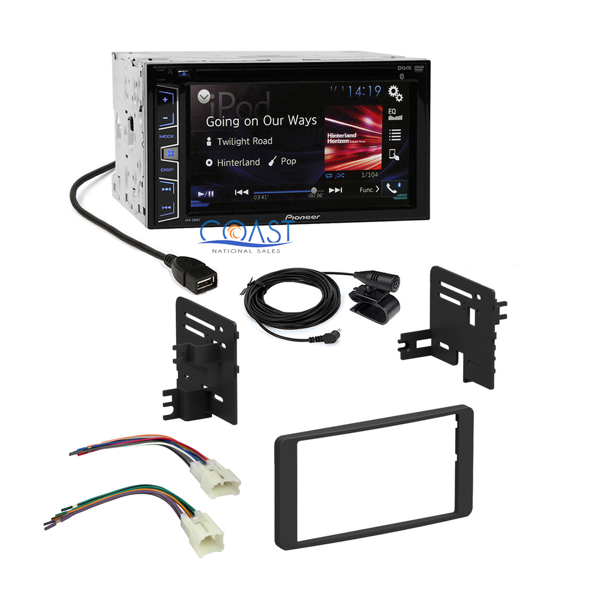 details about pioneer 2016 radio stereo dash kit harness for 2003-2007 toyota  tundra sequoia