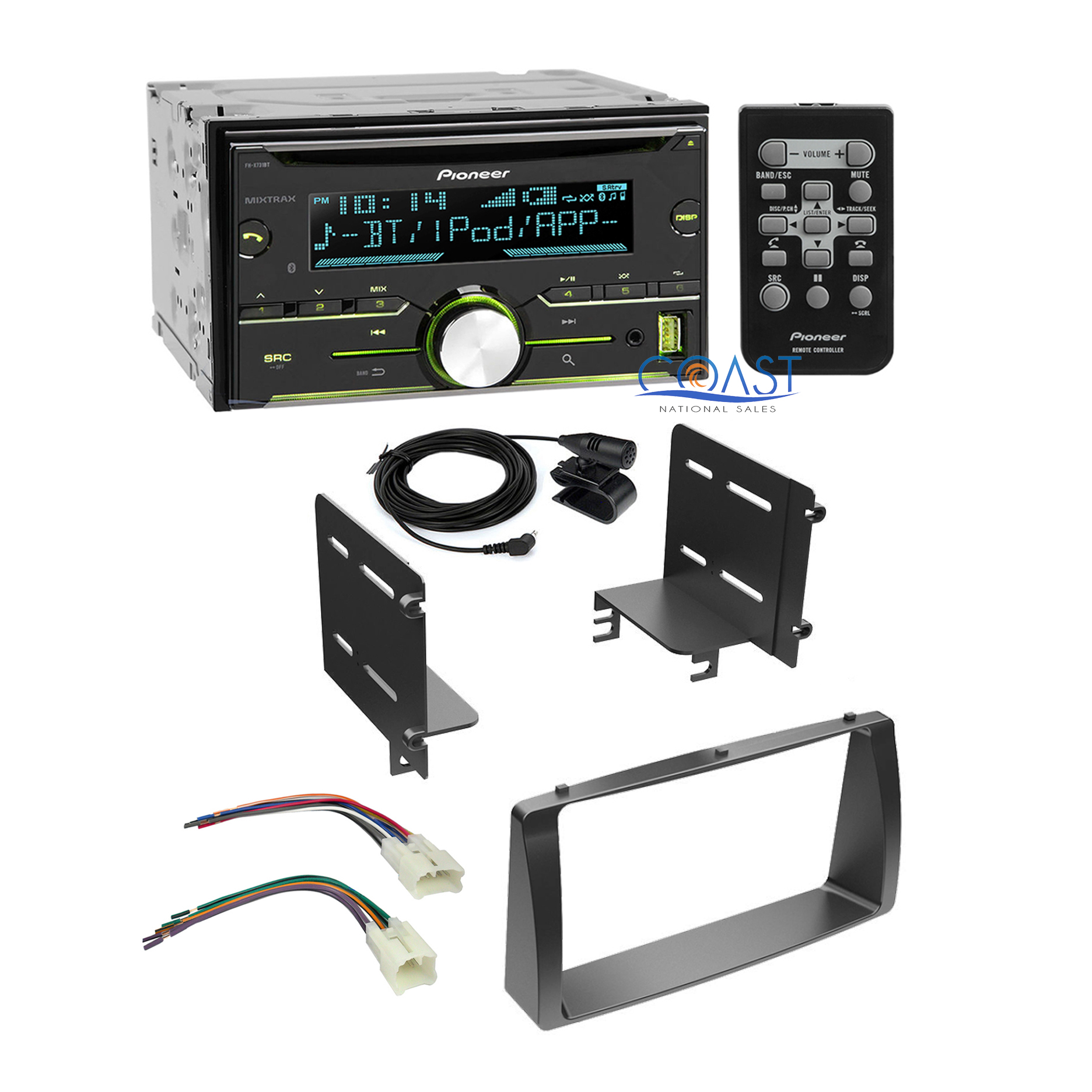 Pioneer Radio Stereo Double Din Dash Kit Wire Harness For 03 08 Wiring Toyota Corolla