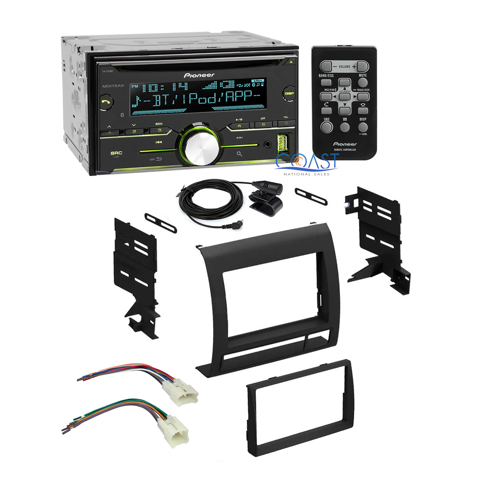 pioneer car stereo radio 2 din dash kit wire harness for. Black Bedroom Furniture Sets. Home Design Ideas