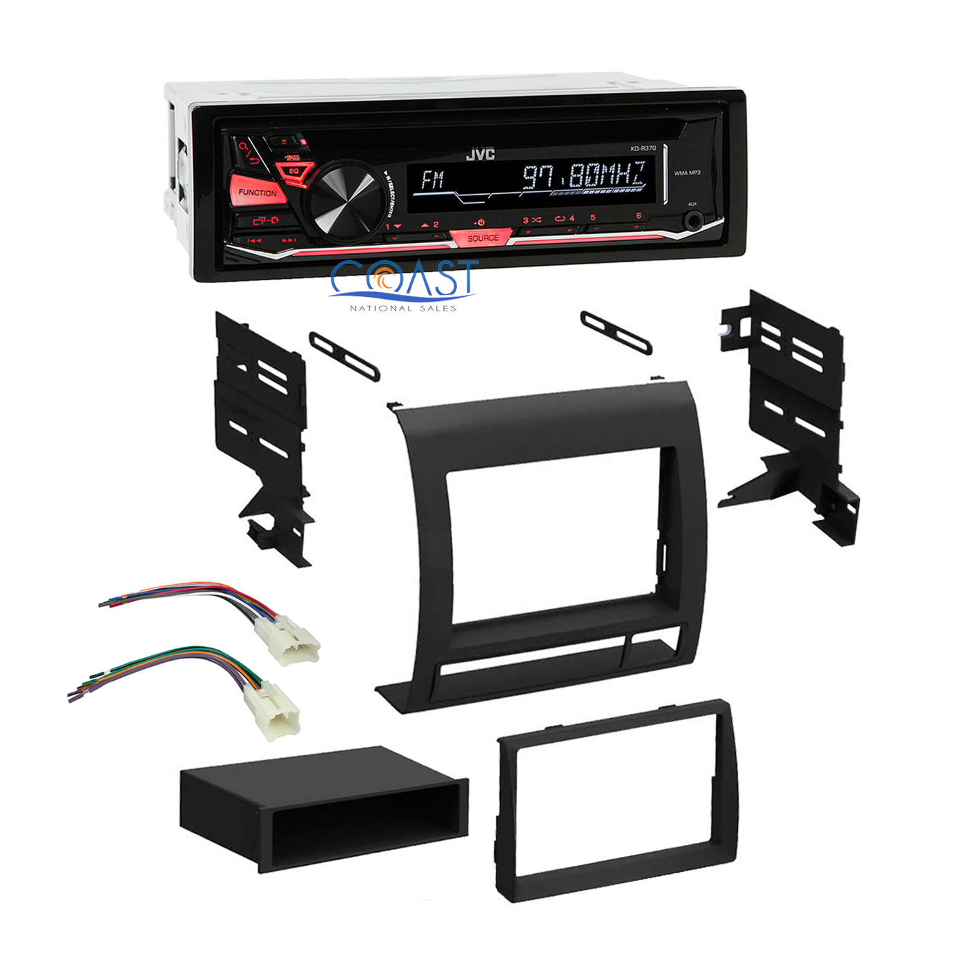 Jvc Car Radio Stereo Single Din Dash Kit Wire Harness For 2005 11 Wiring Toyota Tacoma