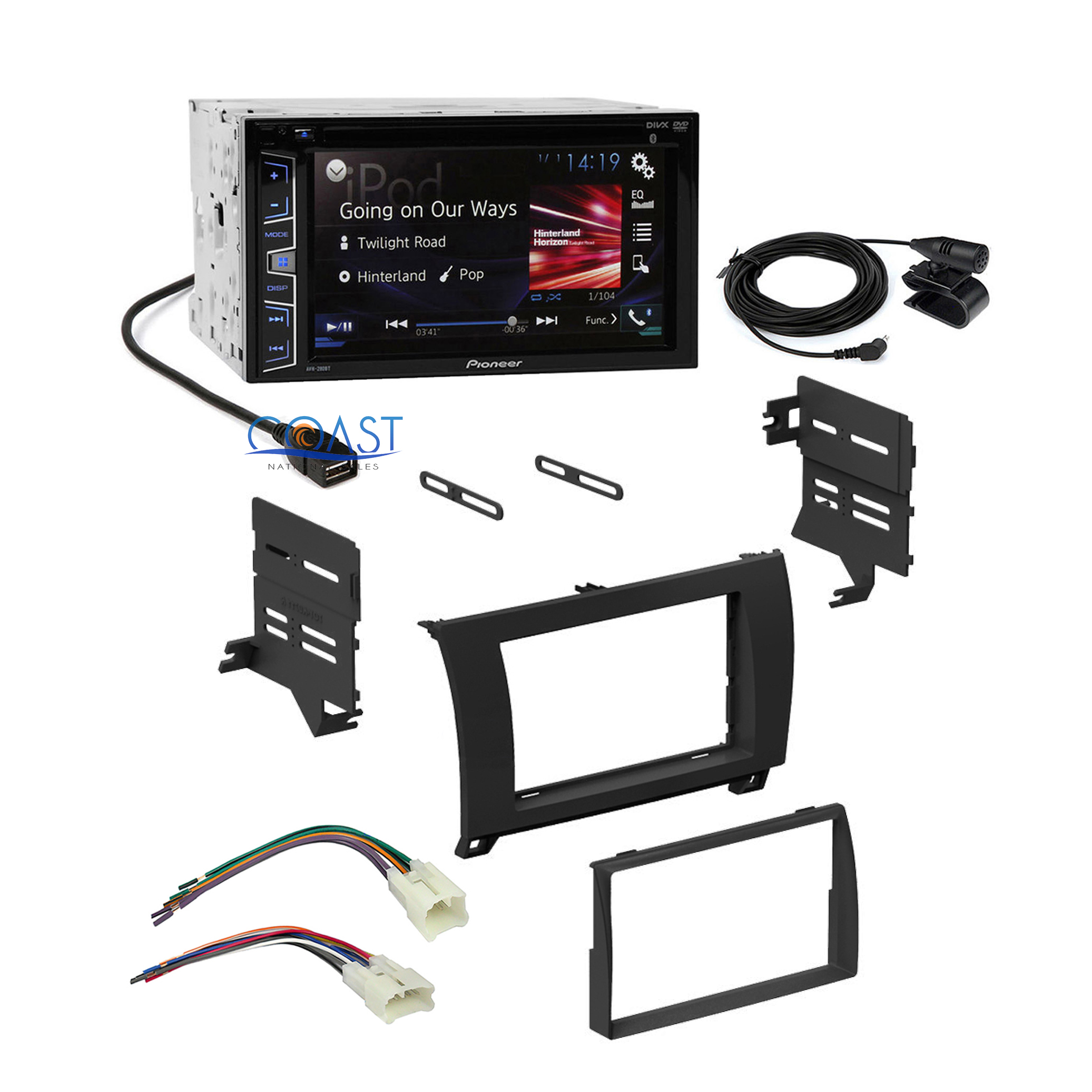 Pioneer Car Radio Black Dash Kit Wire Harness For 07