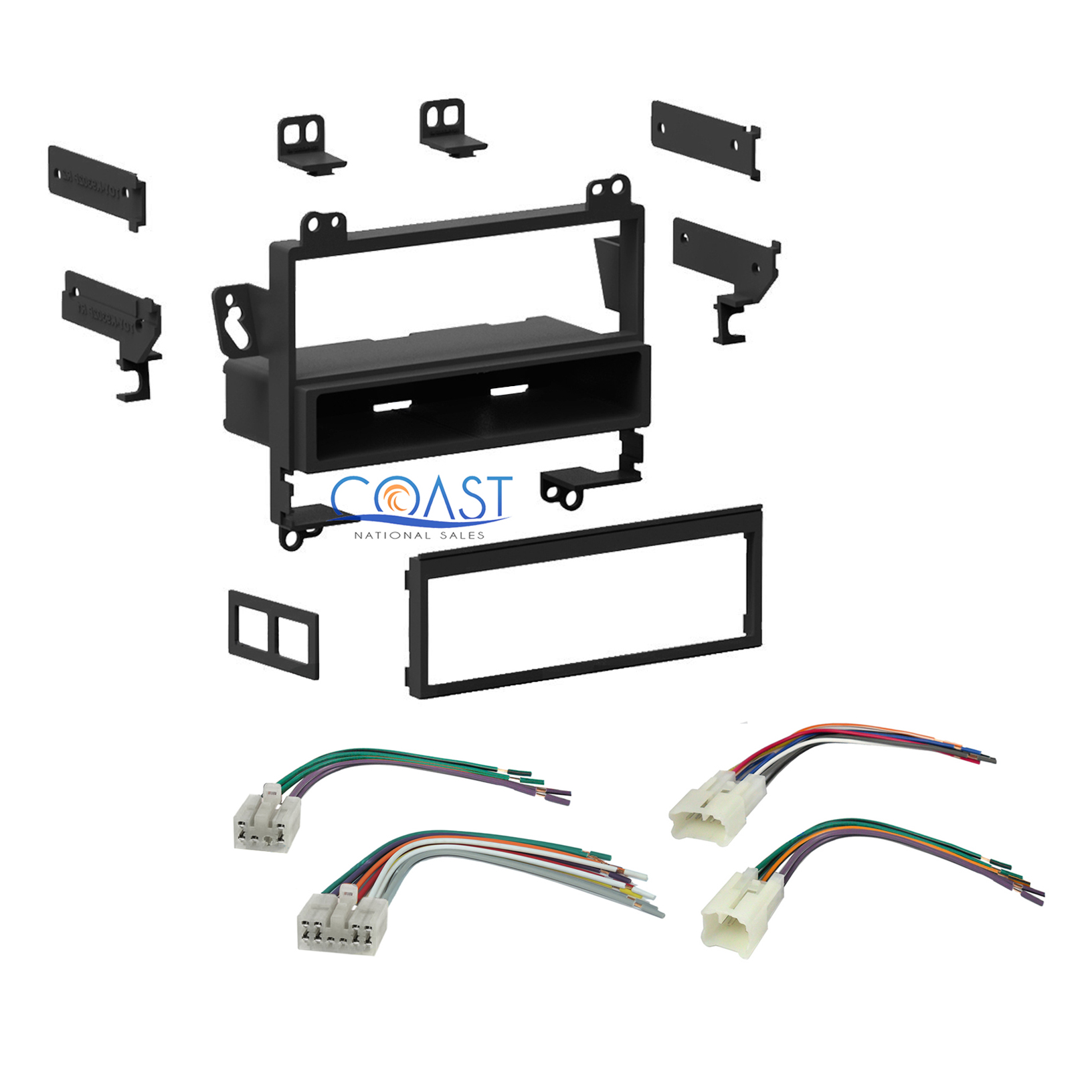 Single Din Car Stereo Dash Kit Wire Harness Combo For 1993