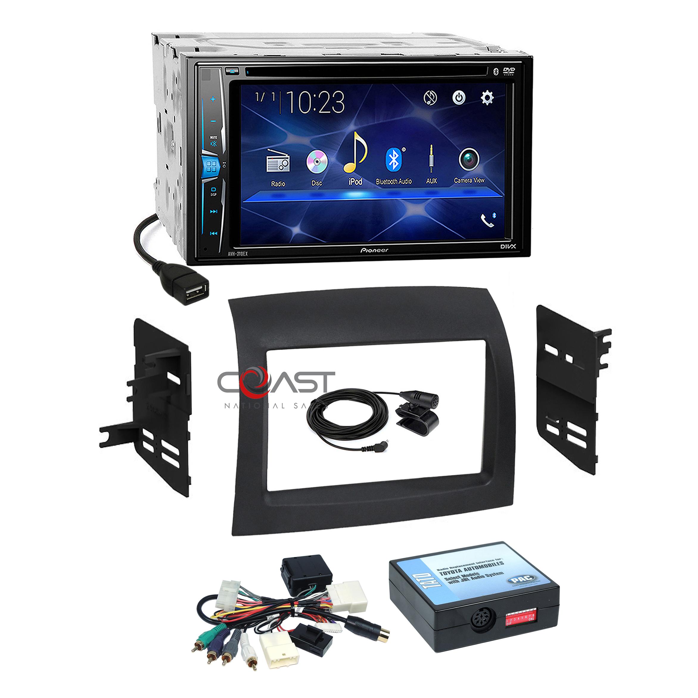 Pioneer Car Radio Bluetooth Single Din Dash Kit Harness for 04-10 Toyota Sienna