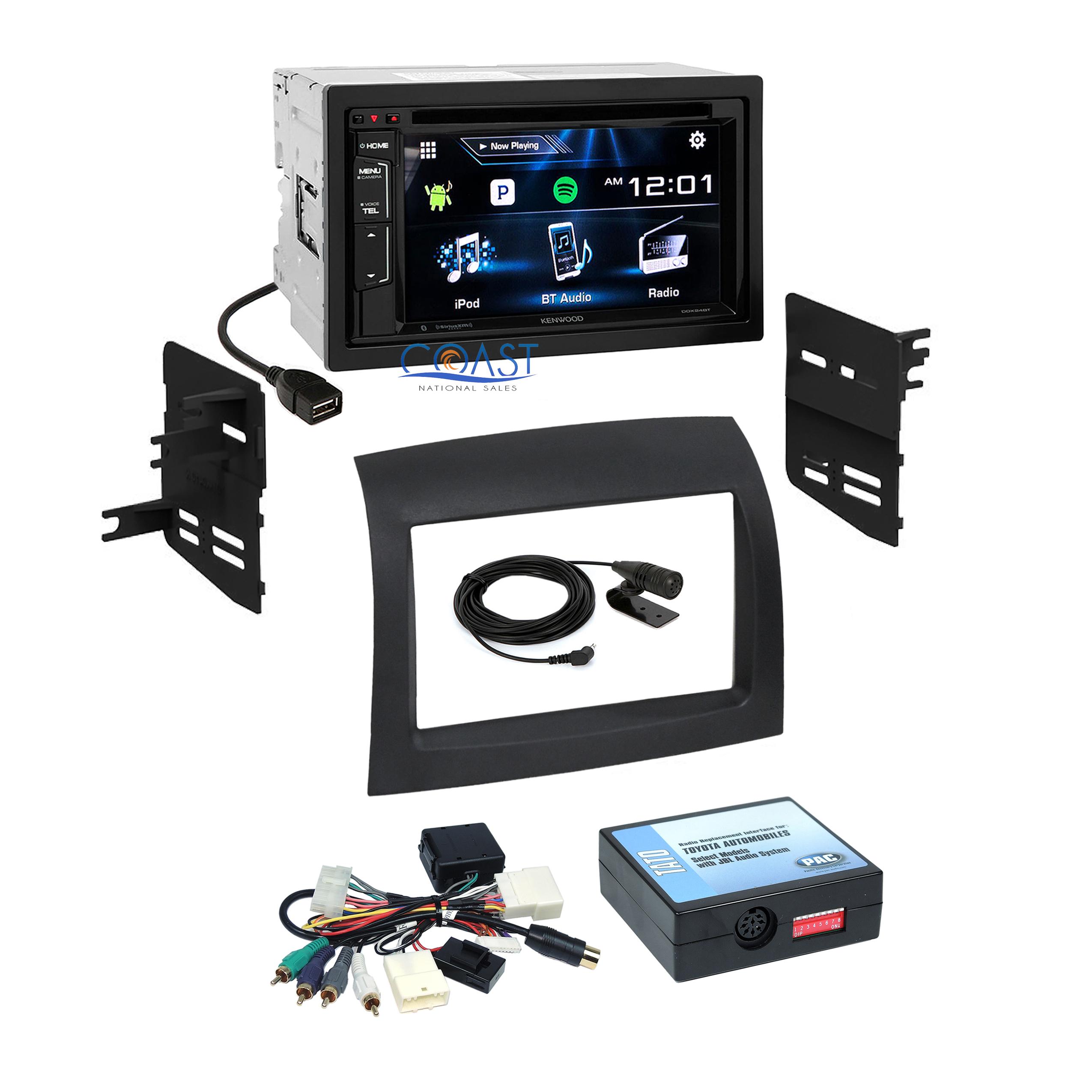 Kenwood Car Bluetooth Sirius Radio Dash Kit Jbl Harness For 04 10 Stereo Wiring Diagram Surround Sound Toyota Sienna