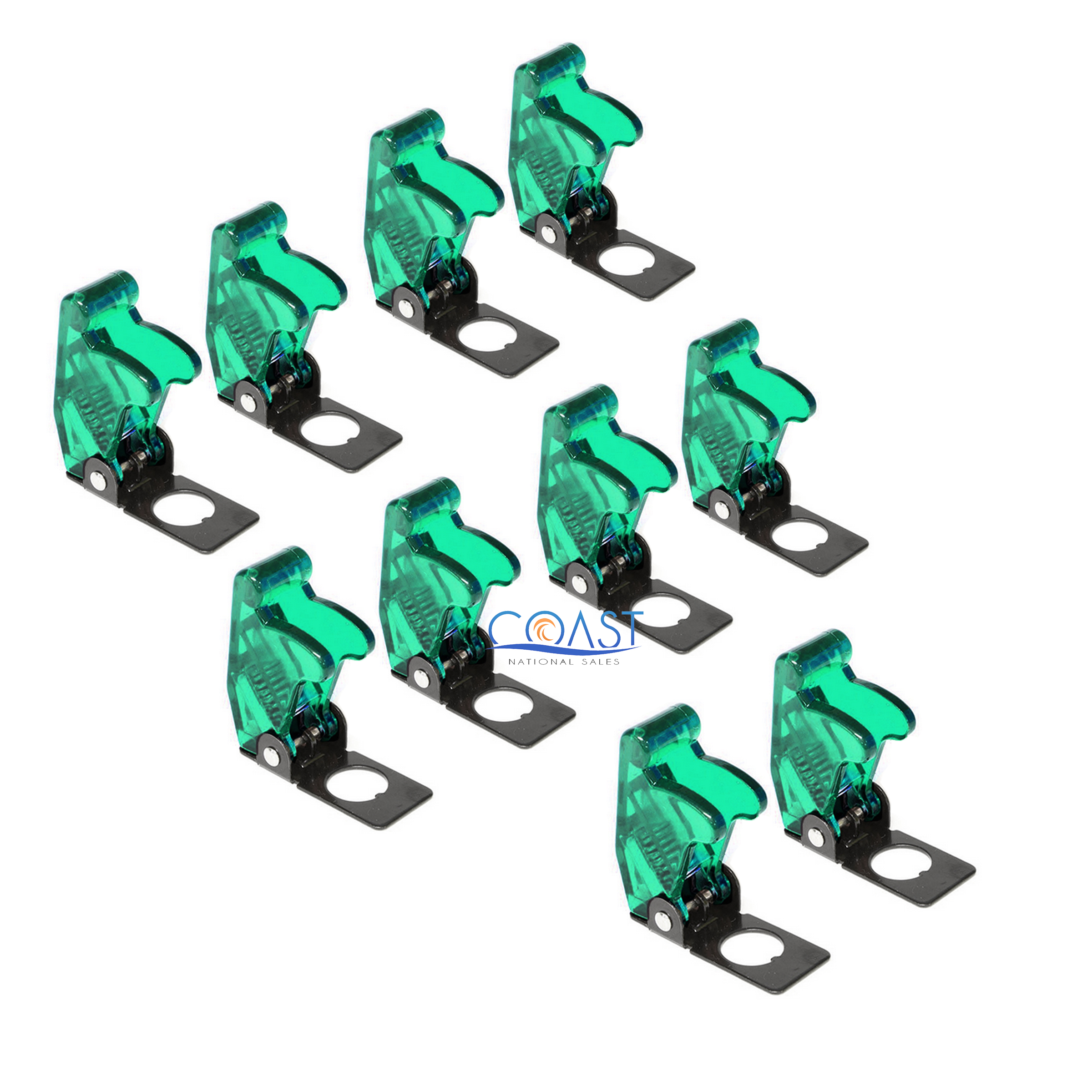 Clear 10X Car Marine Industrial Spring-Loaded Toggle Switch Safety Cover
