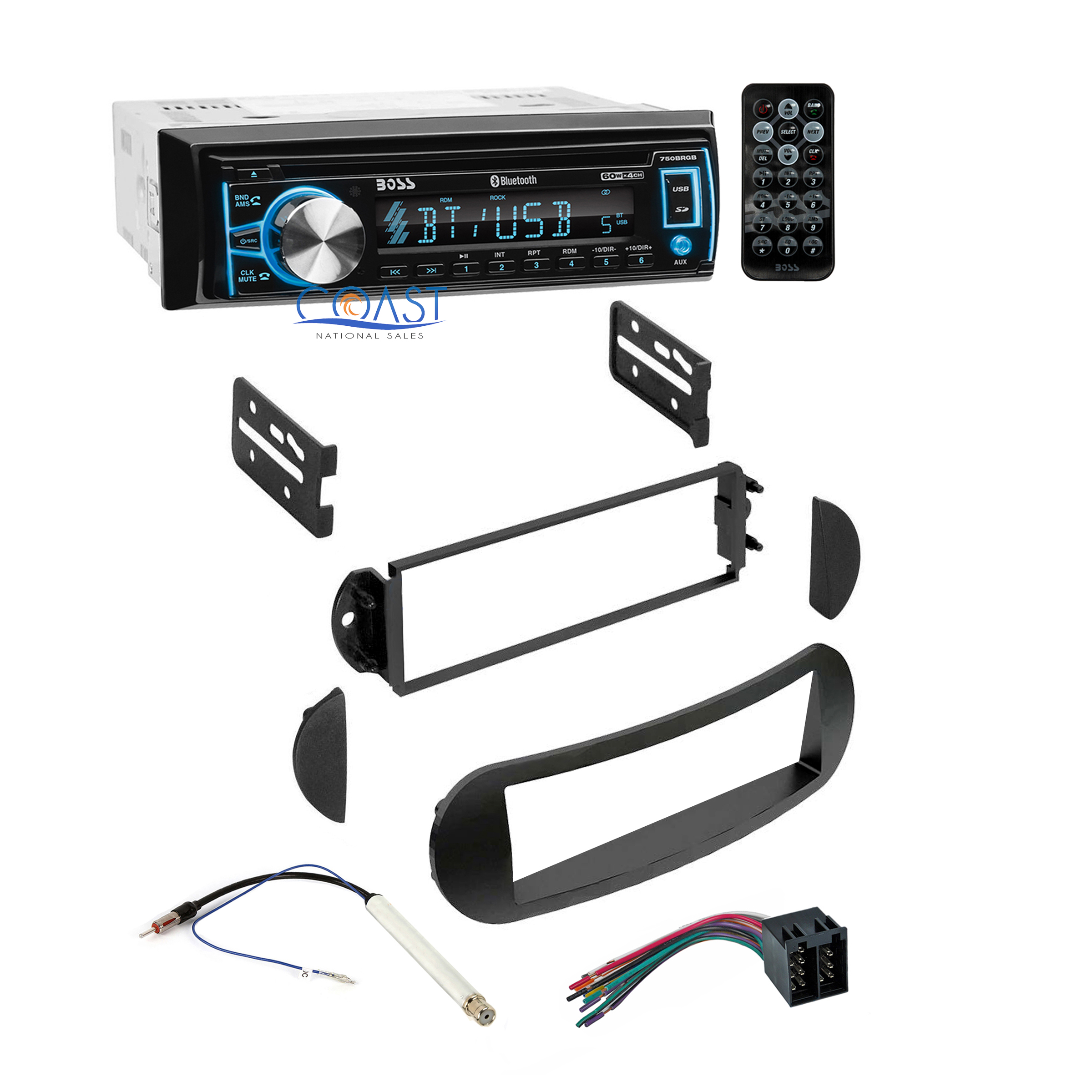 Boss Car Audio Wiring Diagrams Stereo Harness Radio Dash Kit For 1998 Best Pc
