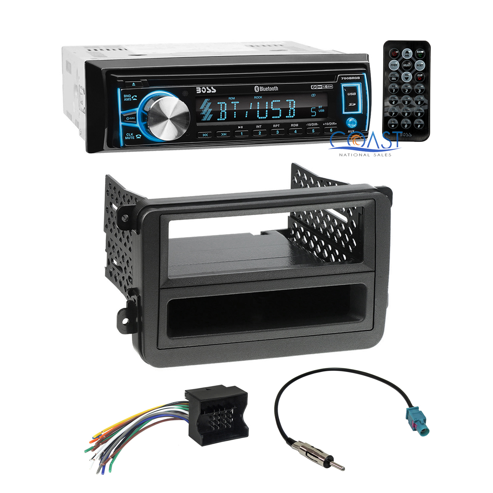 Boss Car Cd Usb Bluetooth Radio Stereo Dash Kit Wire Harness For 06  Volkswagon